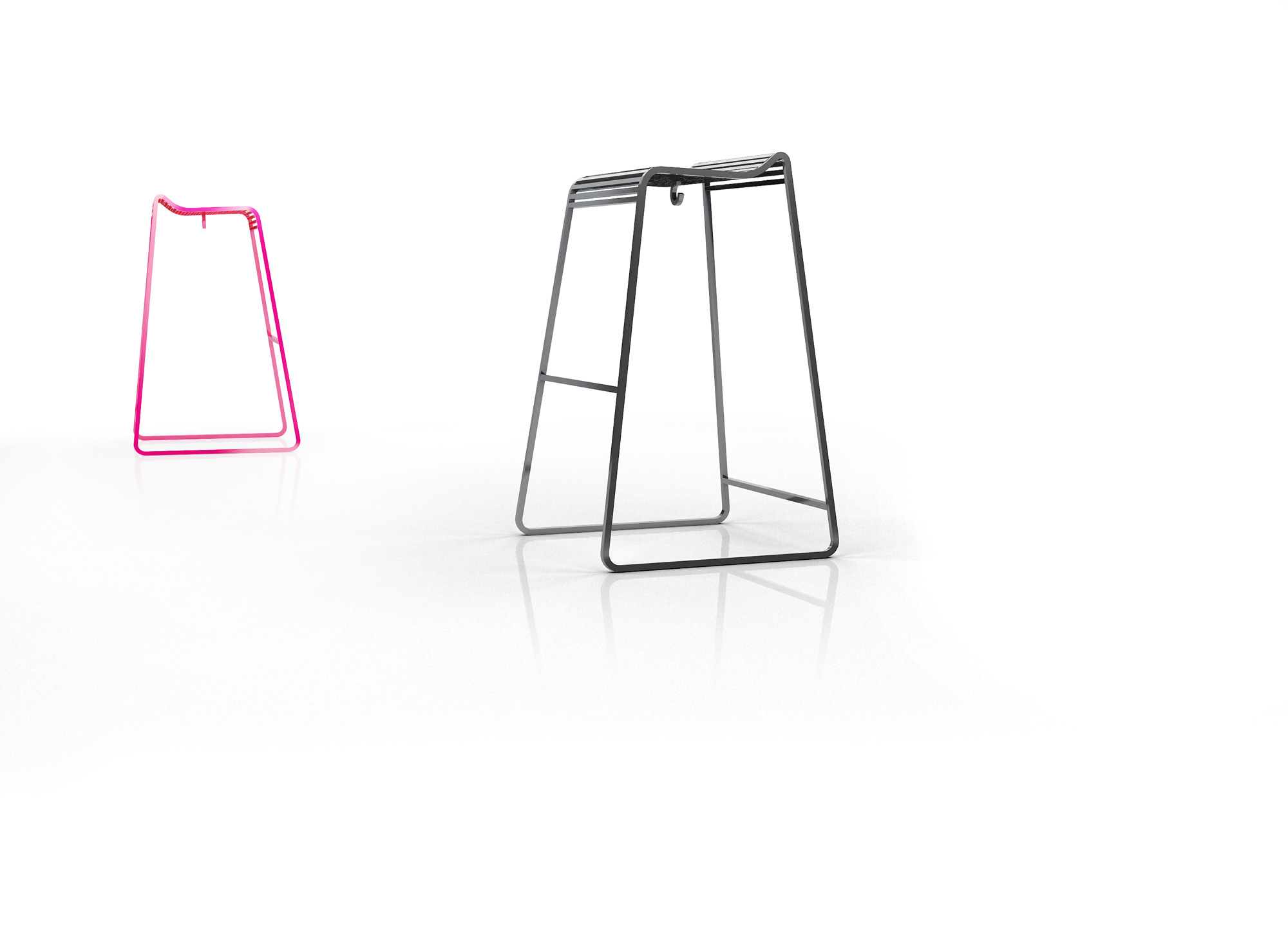 LINES Stool by Stephane CHAPELET for ARIA