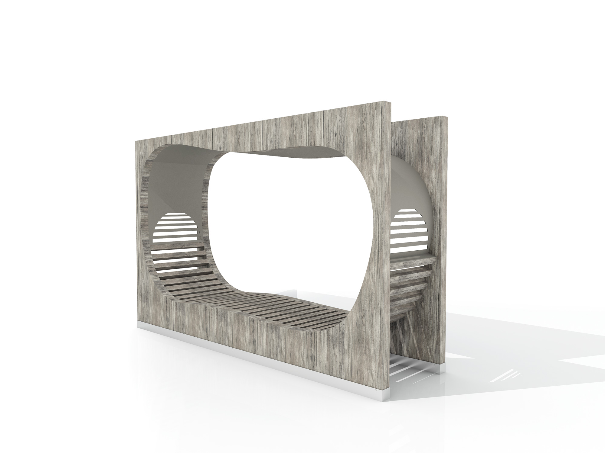 Strates bench by Stephane Chapelet for LAB23
