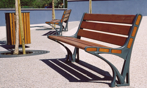 Adagio bench by Stephane Chapelet for ACROPOSE