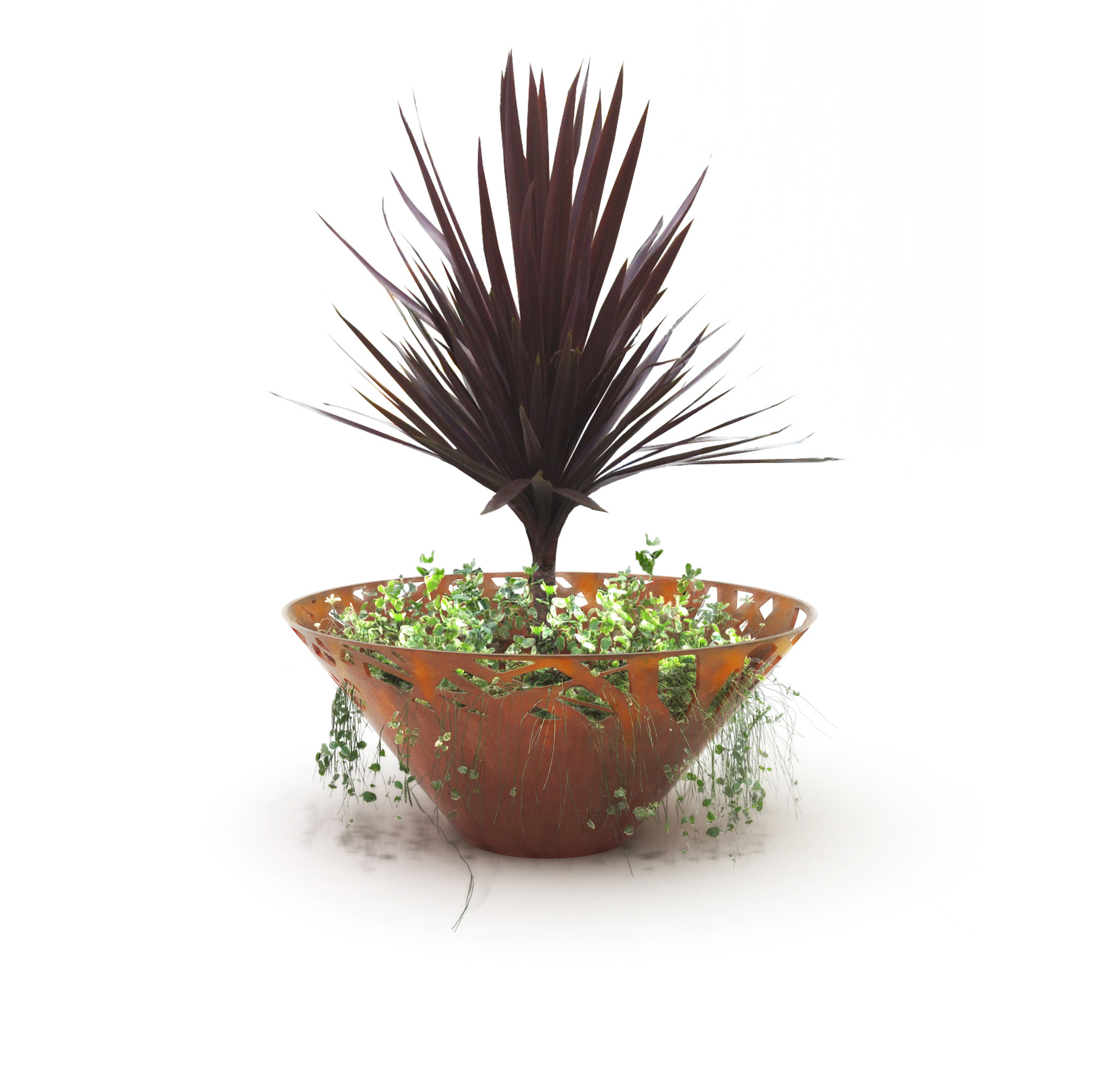 Crossed planter by Stephane Chapelet for LAB23