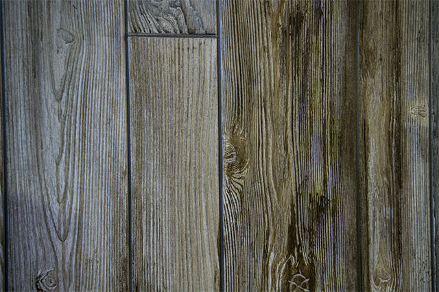 Wall detail of the redneck shack set. Distressing the paneling really brought out the textures.