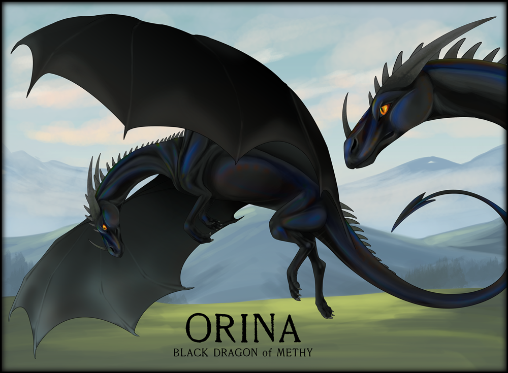 Orina, the first dragon you meet in the story
