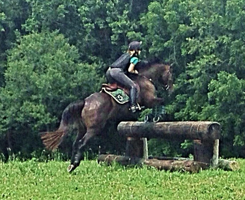 Age 4, xc schooling at Waredaca with Eric Smiley