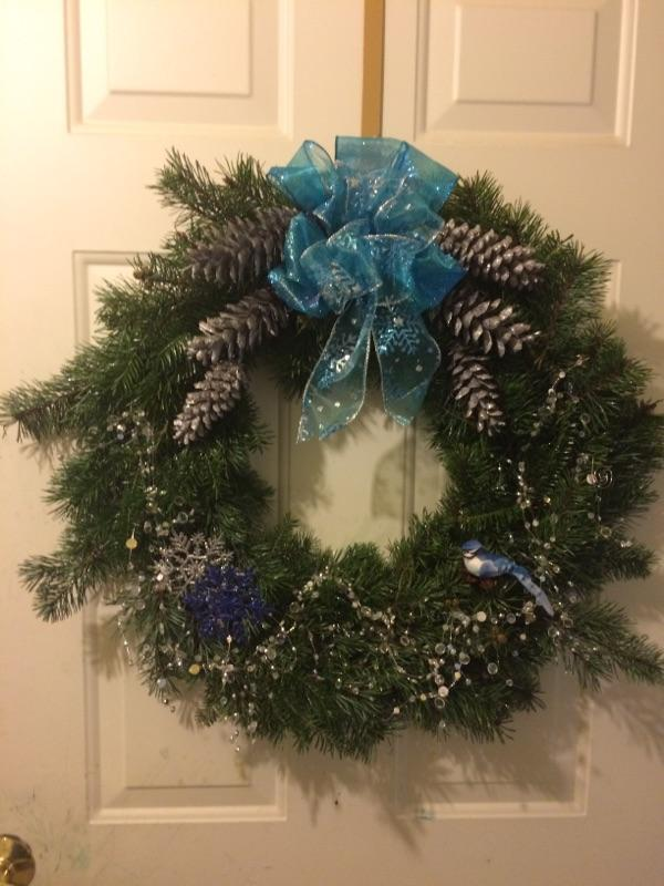 Bluejay accent wreath $25.00 plus shipping