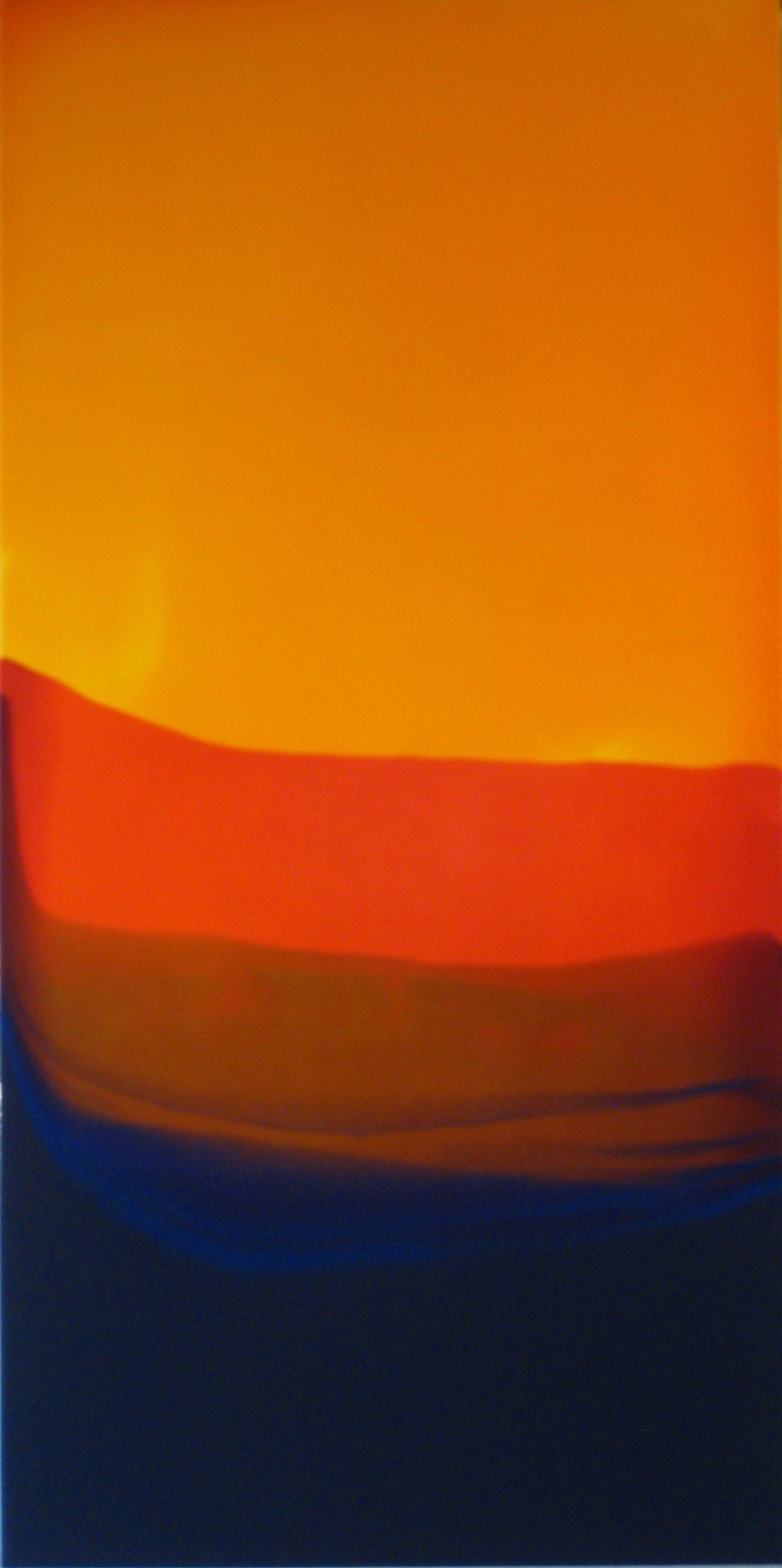 """Indian Summer"", 2010, 48"" X 24"", poured acrylic on panel. (unavailable)"