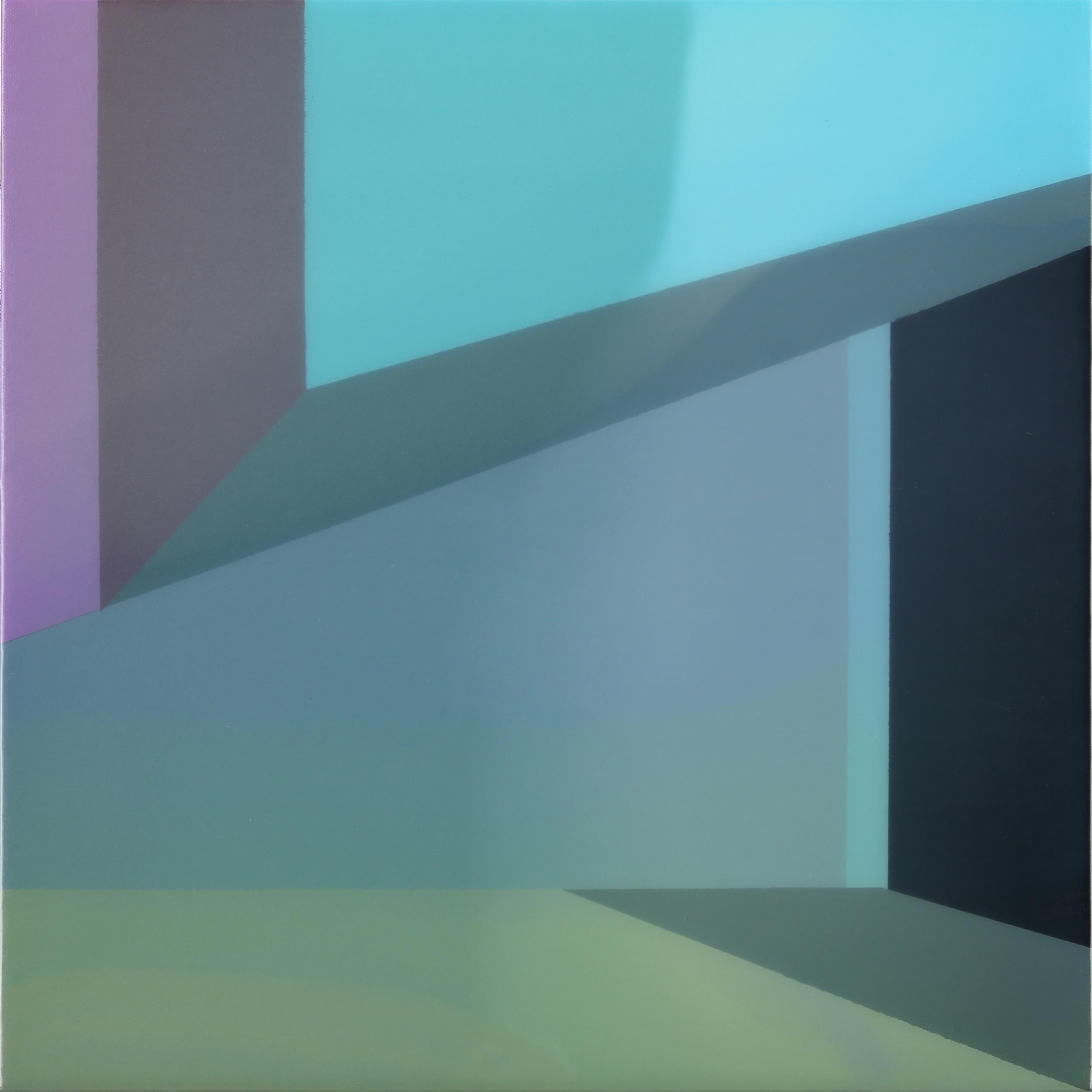 """Level 5"", Acrylic on canvas over panel, 16"" X 16"", 2015."