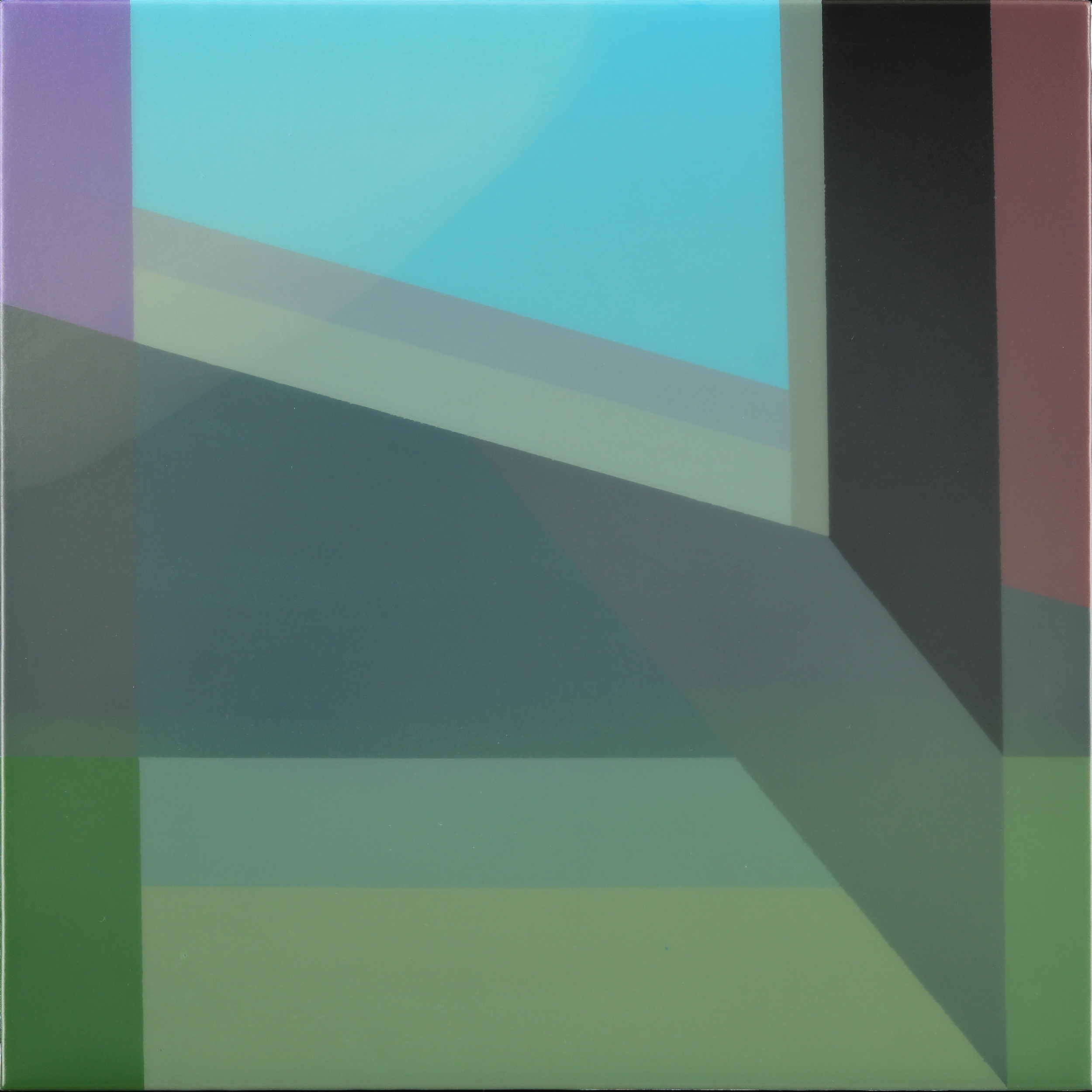 """Level 1"", Acrylic on canvas over panel, 16"" X 16"", 2015."