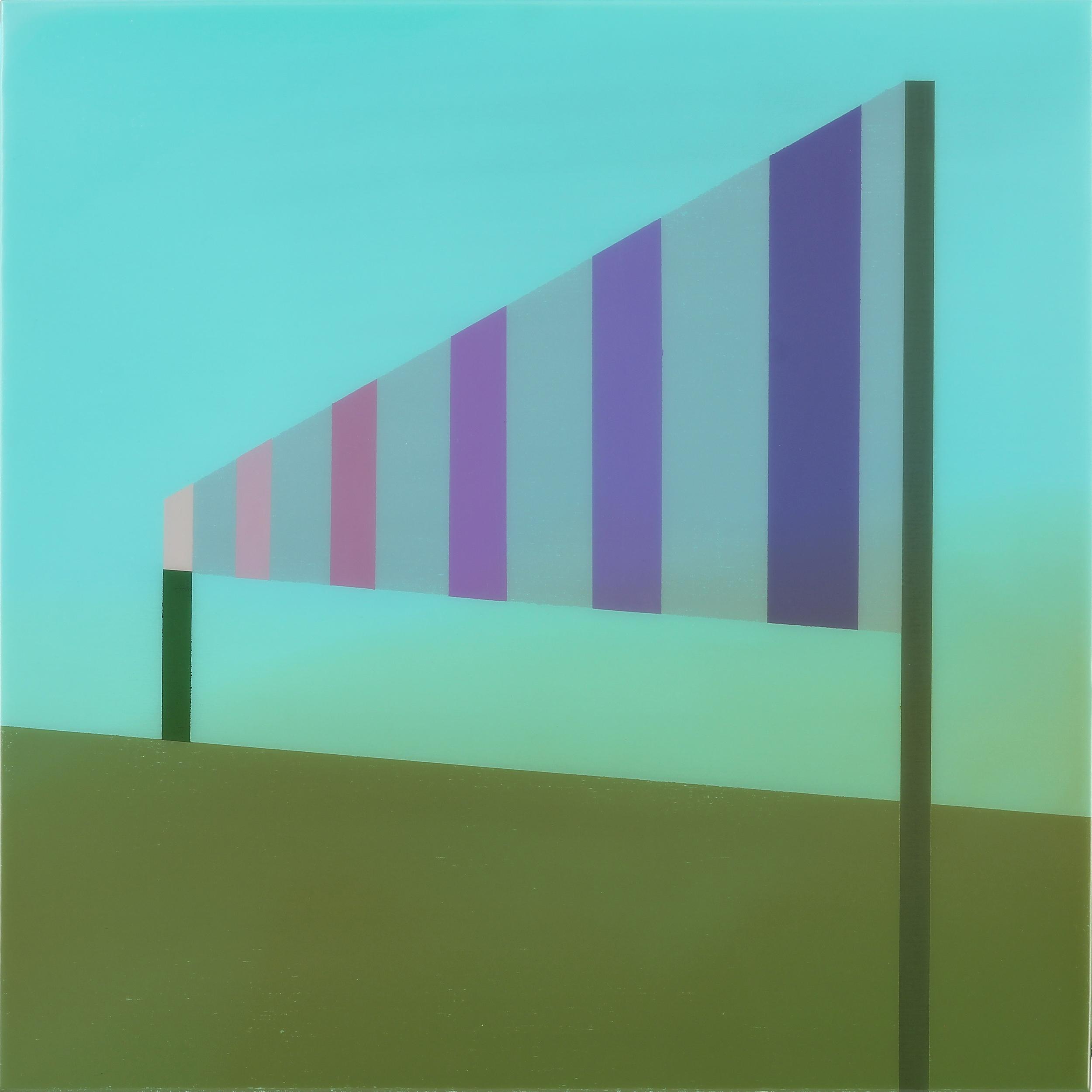 """Signal"", Acrylic on canvas over panel, 24"" X 24"", 2015."
