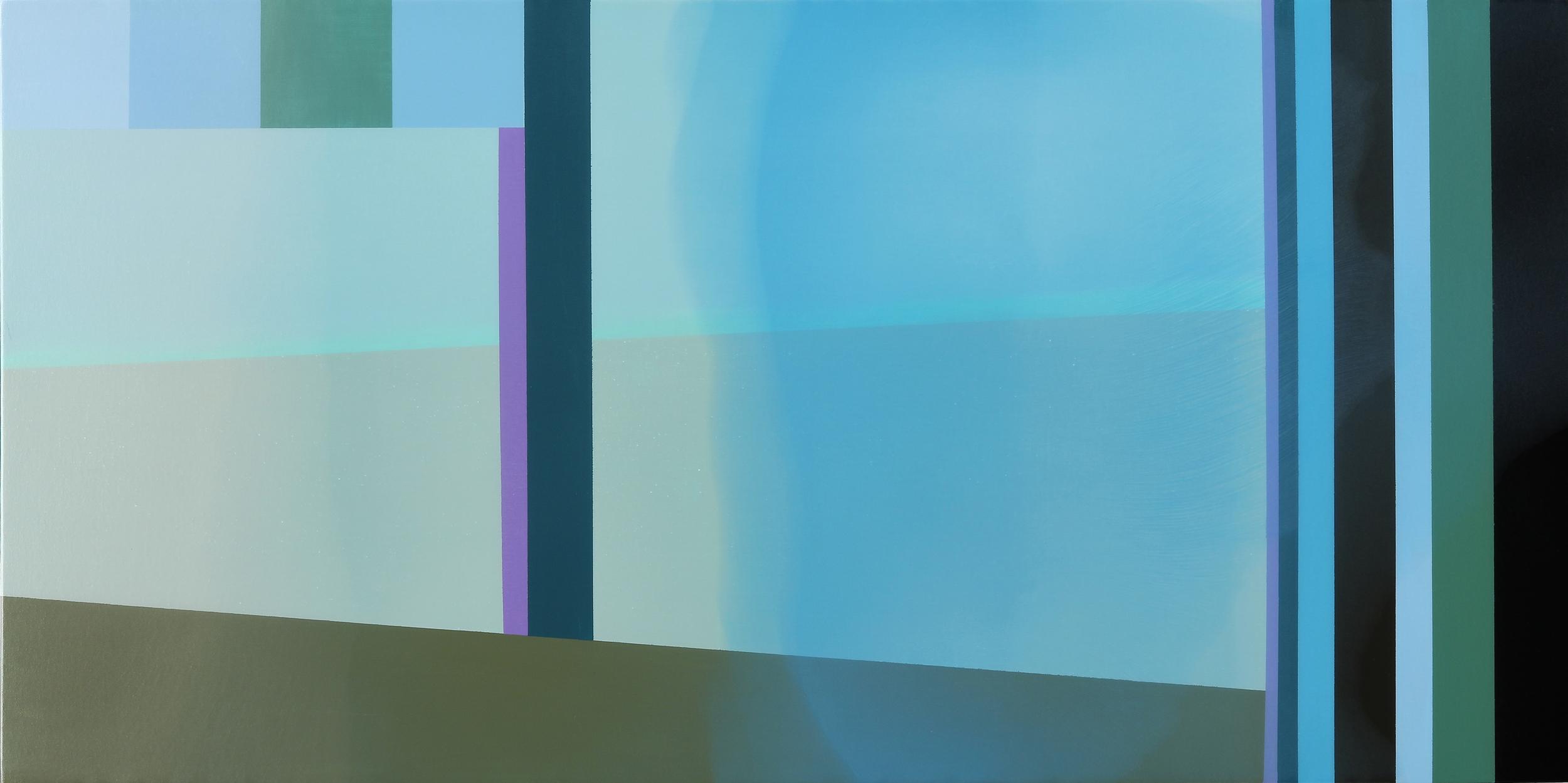 """Start"", Acrylic on canvas over panel, 24"" X 48"", 2015."