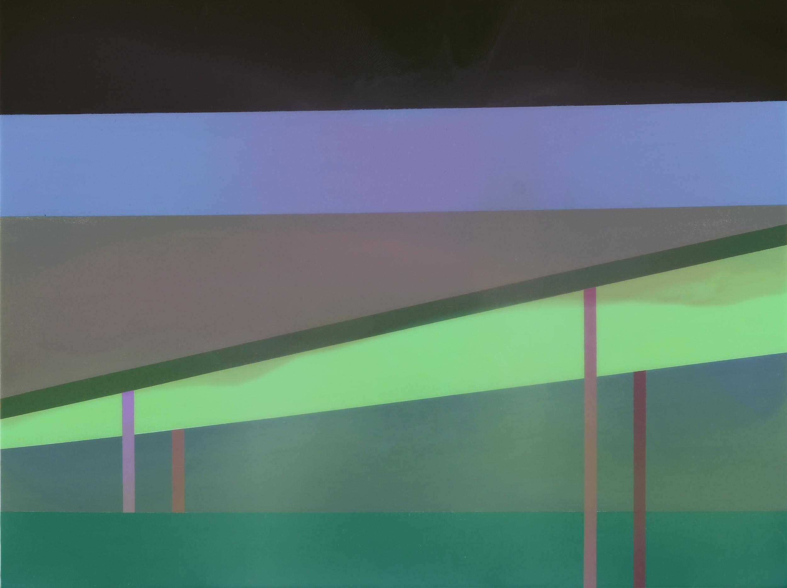 """Overpass"", Acrylic on canvas over panel, 30"" X 40"", 2015."
