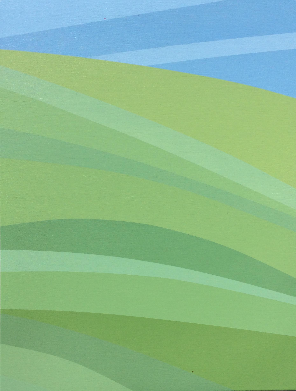 """Grass, 2016, 40"""" X 30"""", Acrylic on canvas"""