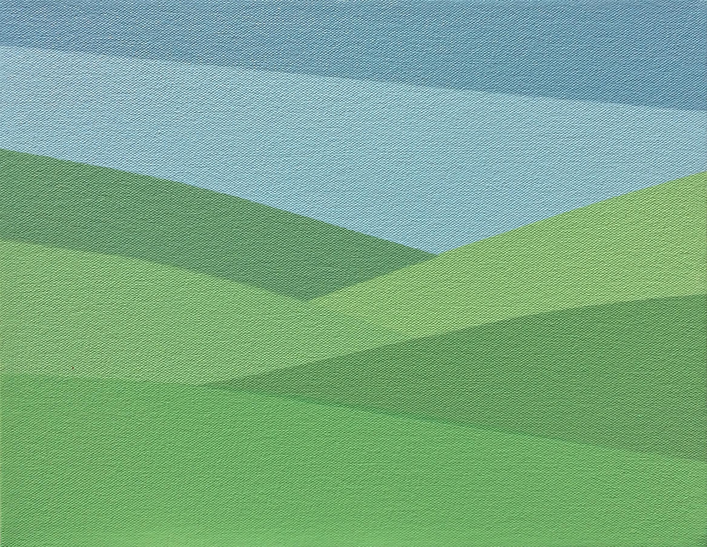 "Pasture, 2016, 11"" X 14"", Acrylic on canvas."