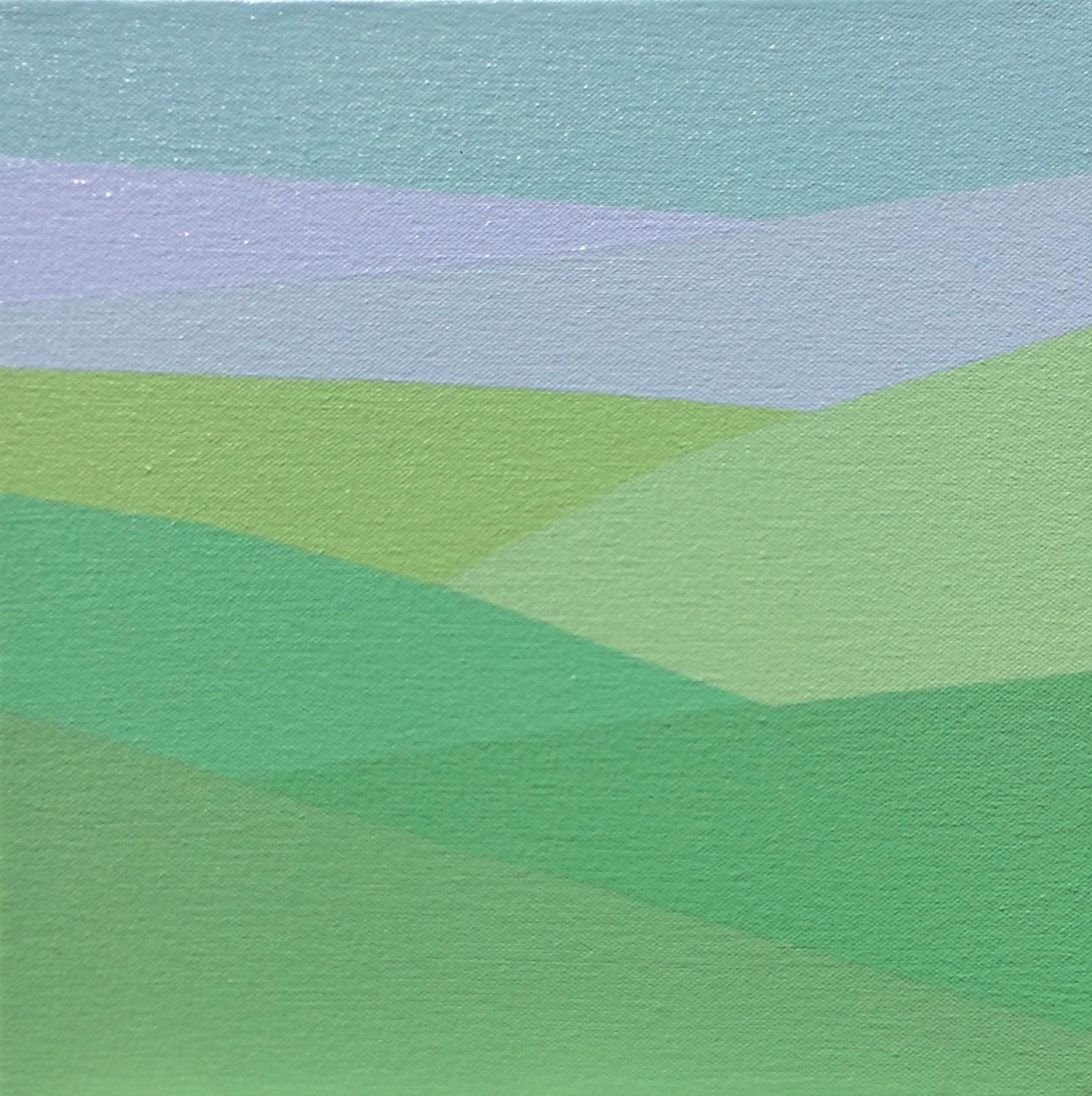"Purple Fog, 2017, 10"" X 10"", Acrylic on canvas"