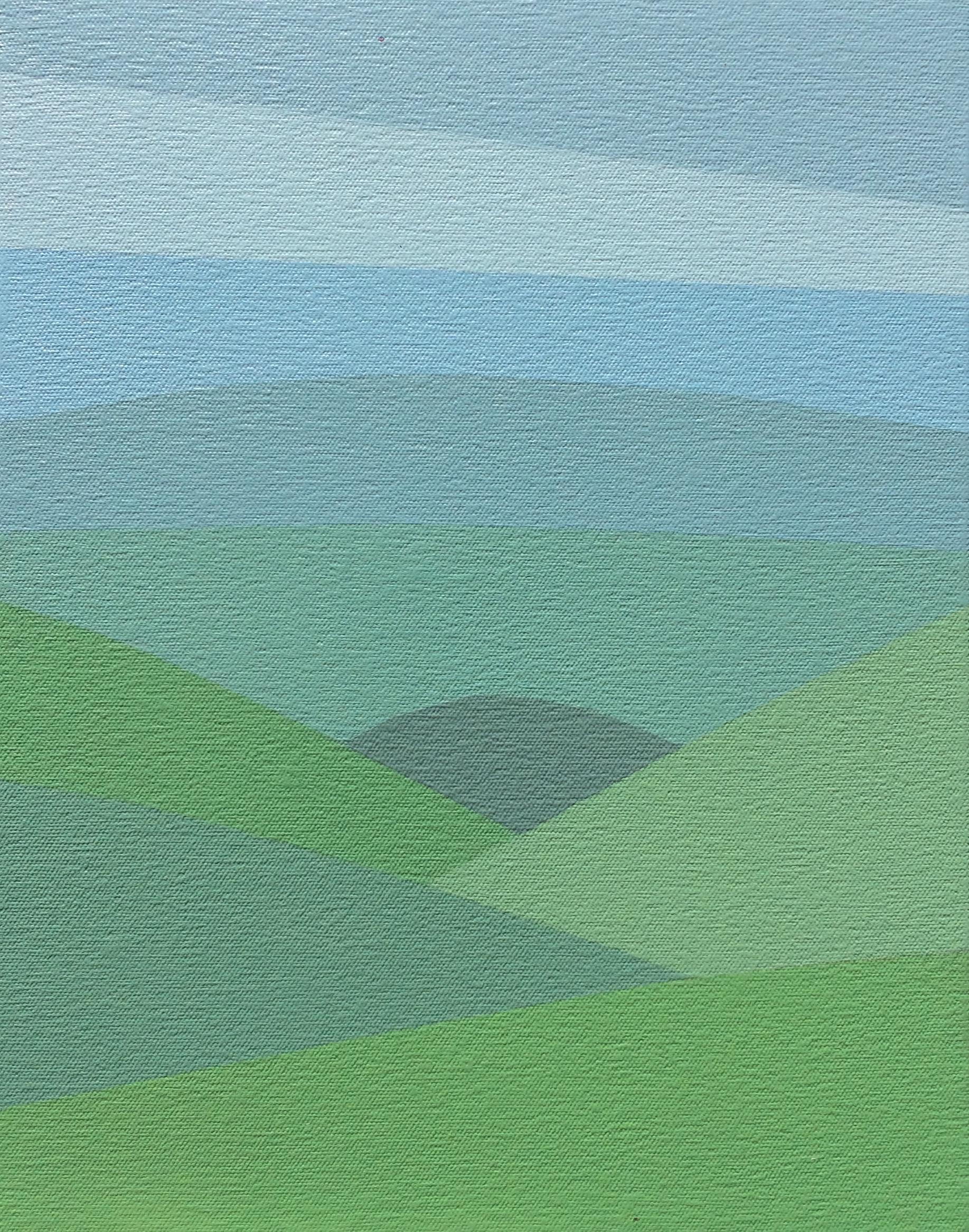 "Valley, 2016, 14"" X 11"", Acrylic on canvas"