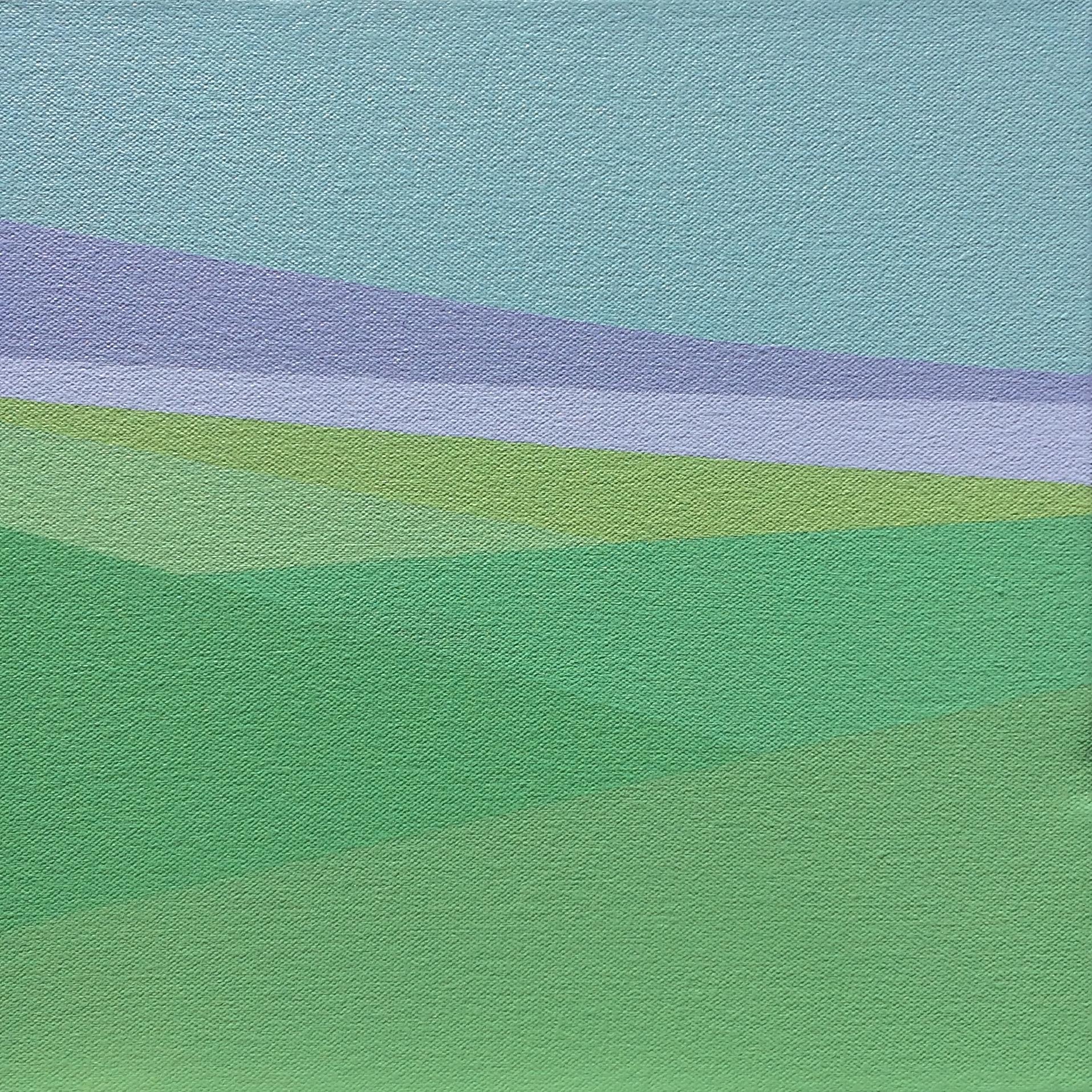 "Purple Cloud, 2017, 10"" X 10"", Acrylic on canvas"