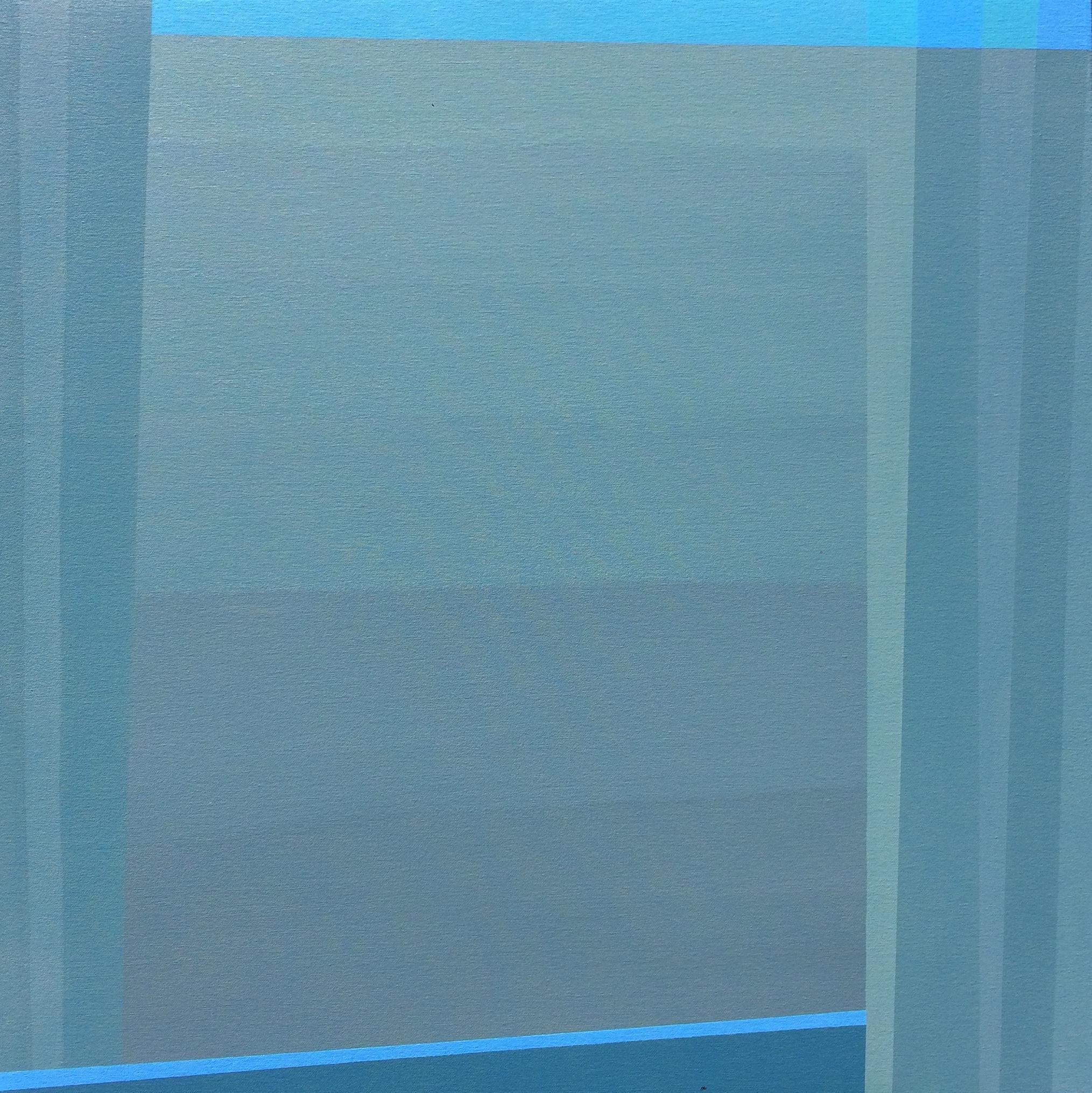 "Grey Window, 2016, 30"" X 30"", Acrylic on canvas"