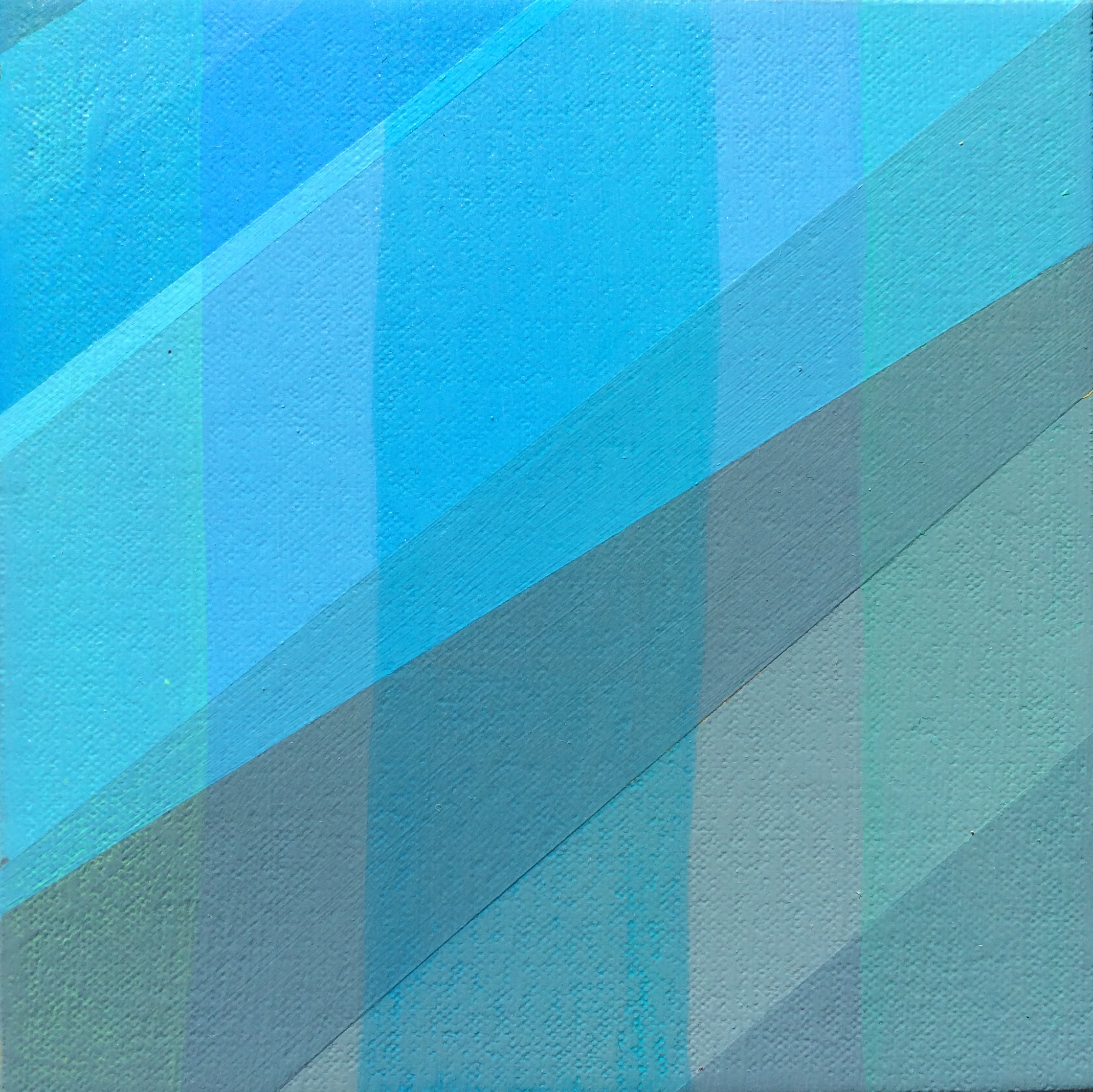 "Mountain Level, 2016, 6"" X 6"", Acrylic on canvas"