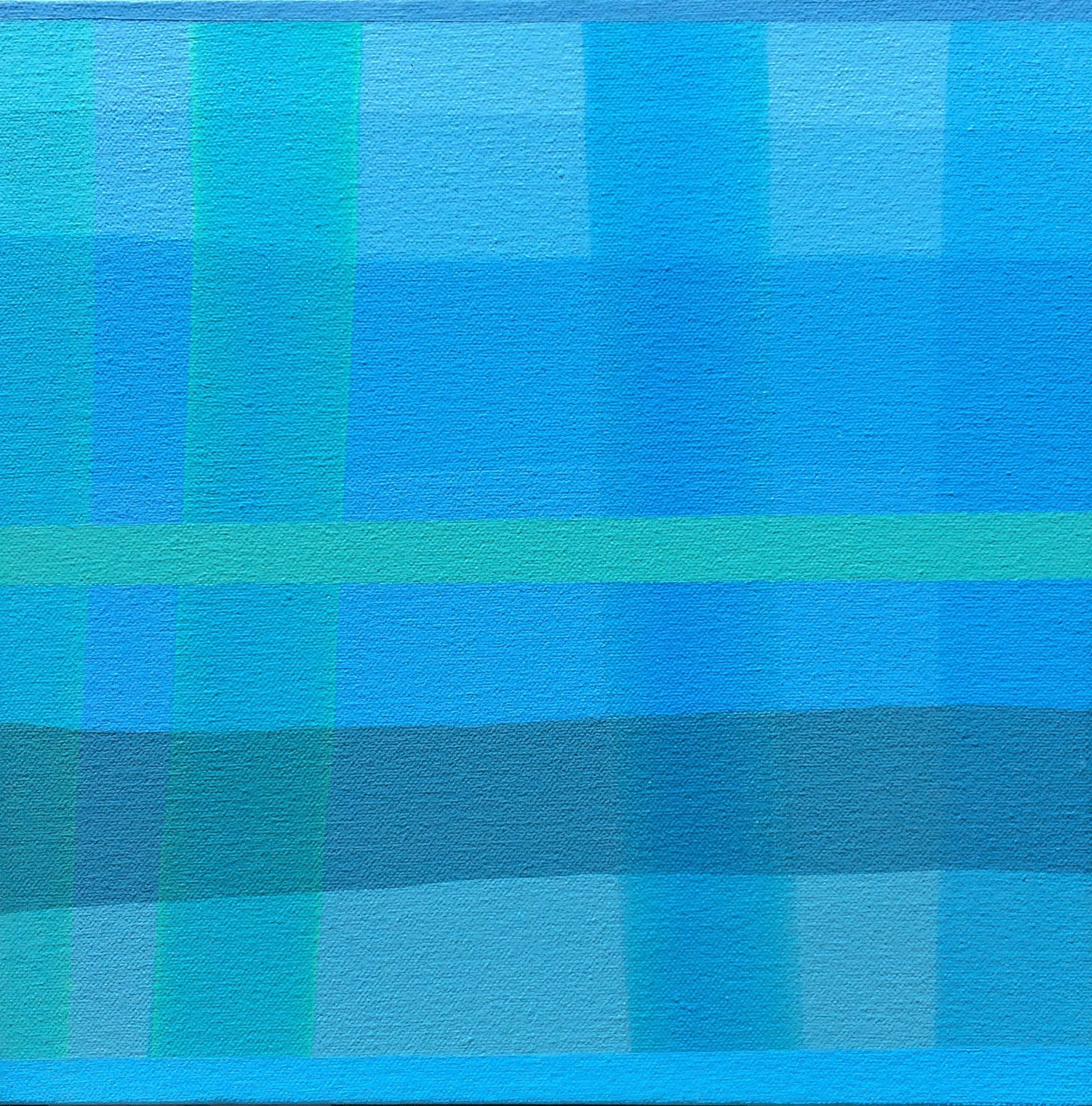 """Blue Note, 2016, 10"""" X 10"""", Acrylic on canvas"""