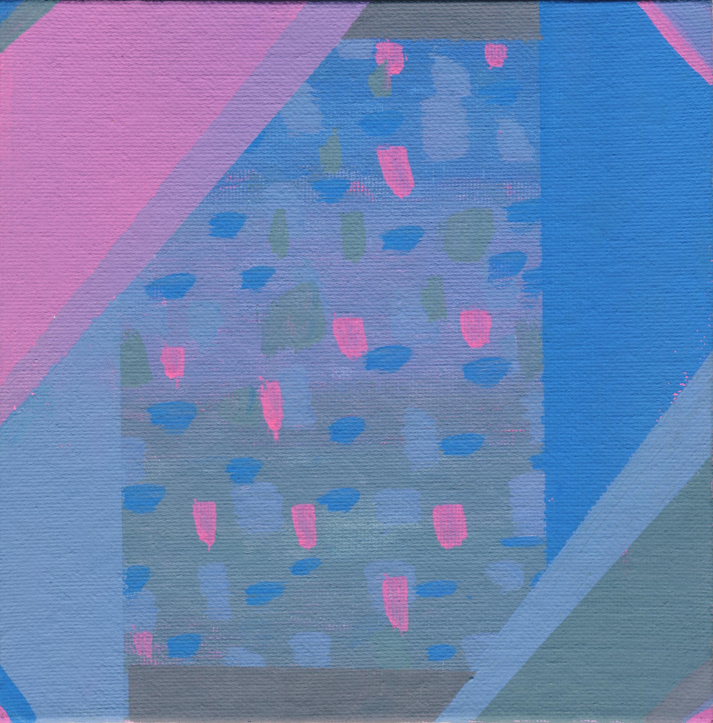 "4/100, Acrylic on canvas panel, 6"" X 6"", 1/10/19"