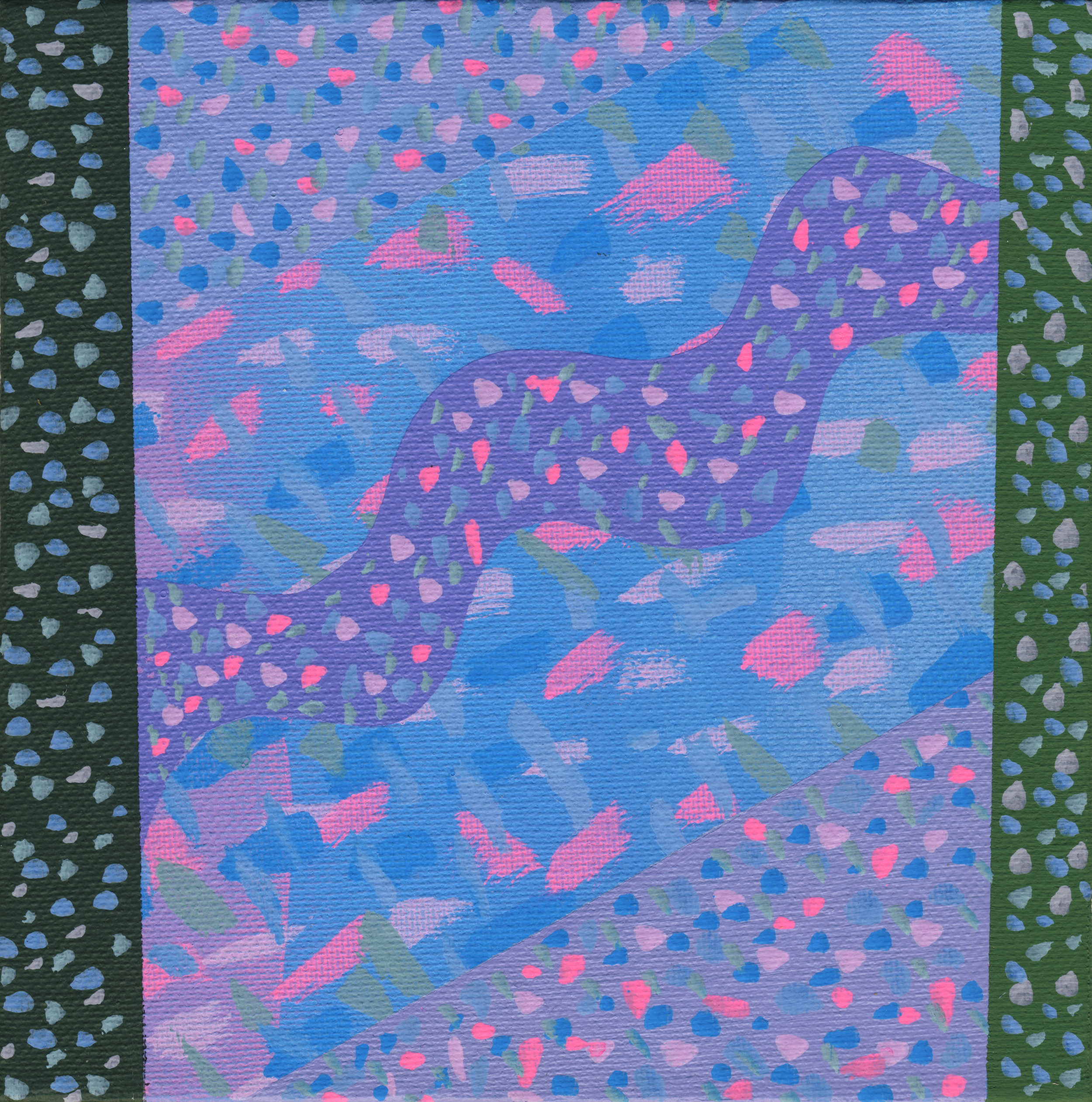 "13/100, Acrylic on canvas panel, 6"" X 6"", 1/19/19"