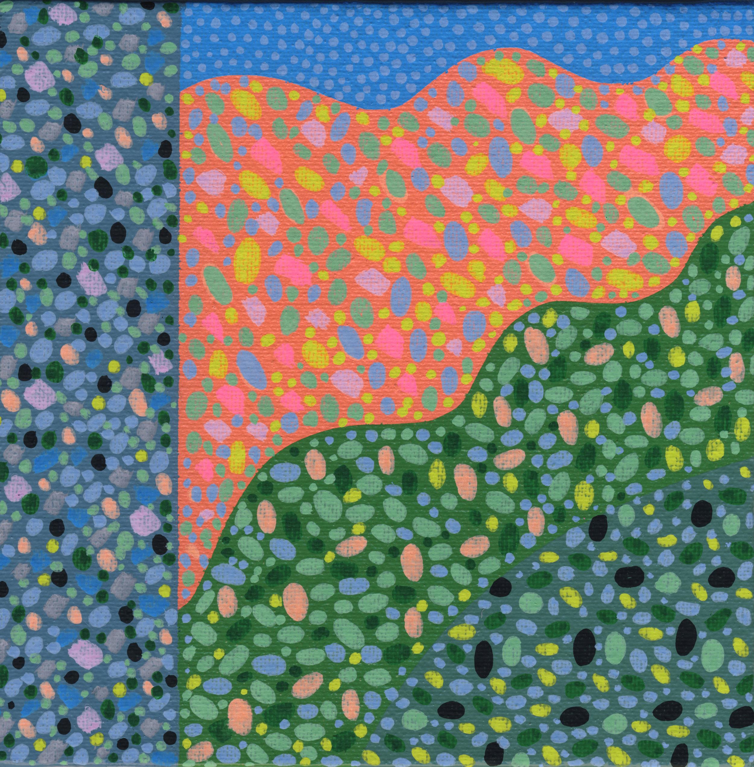 "37/100, Acrylic on canvas panel, 6"" X 6"", 2/12/19"