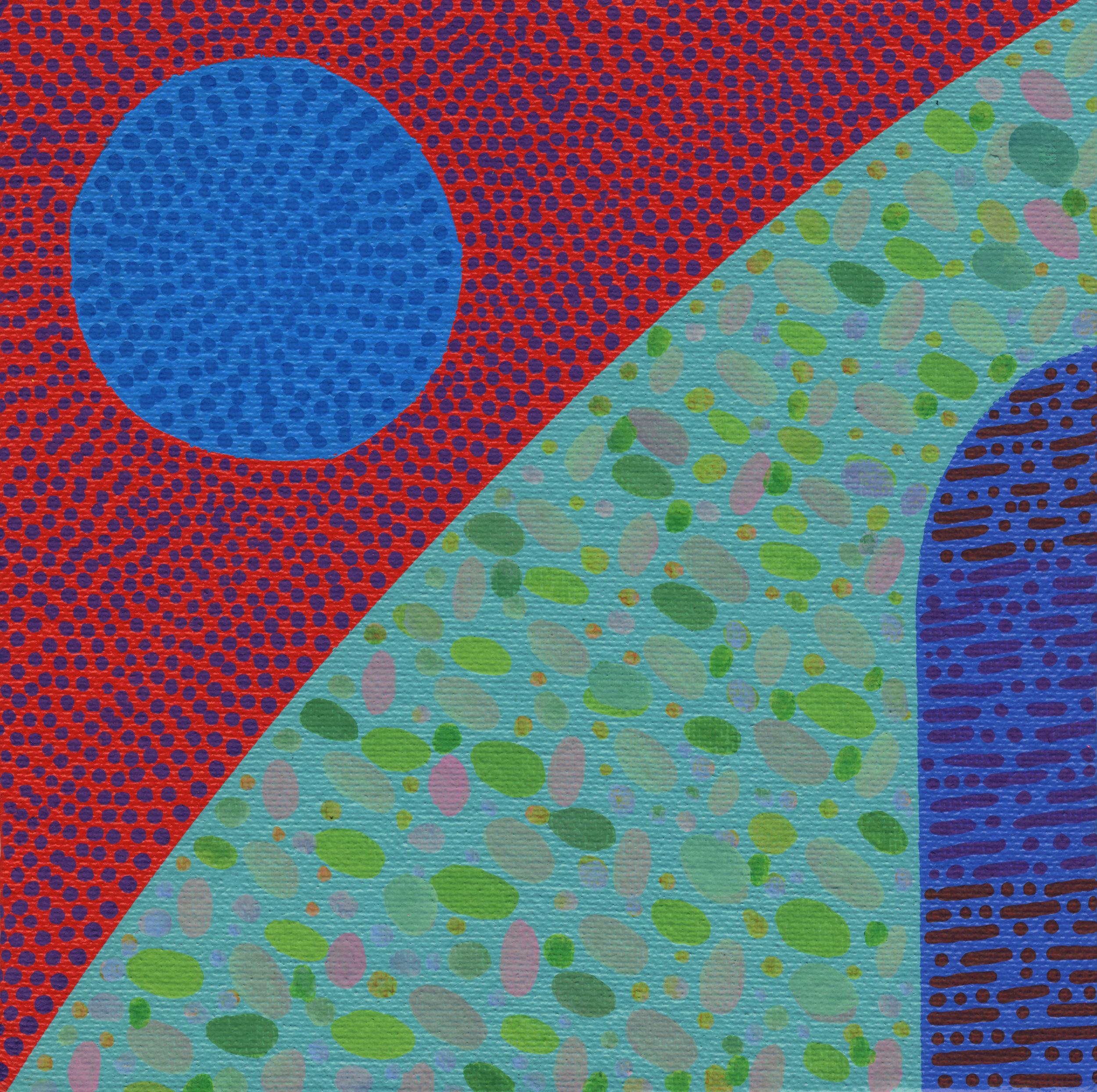 "74/100, Acrylic on canvas panel, 6"" X 6"", 3/21/19"