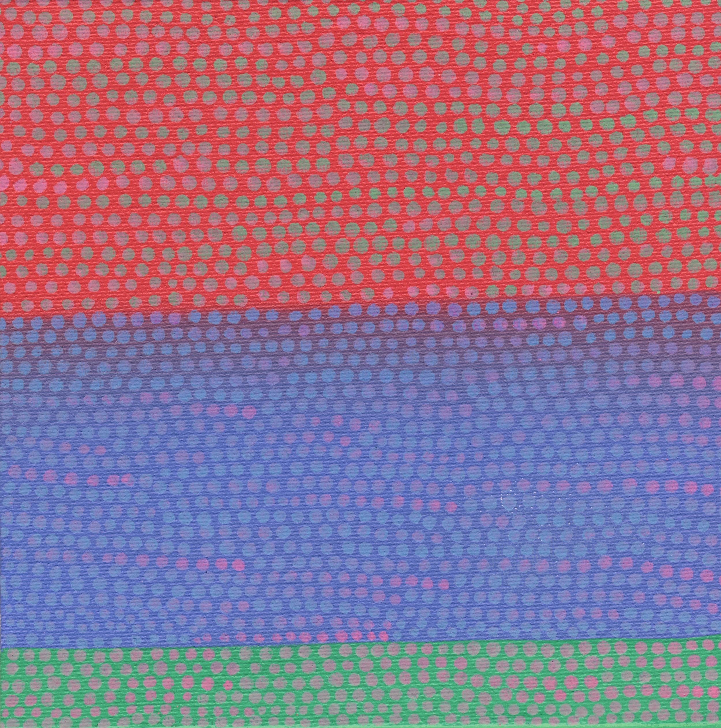 "82/100, Acrylic on canvas panel, 6"" X 6"", 3/29/19"