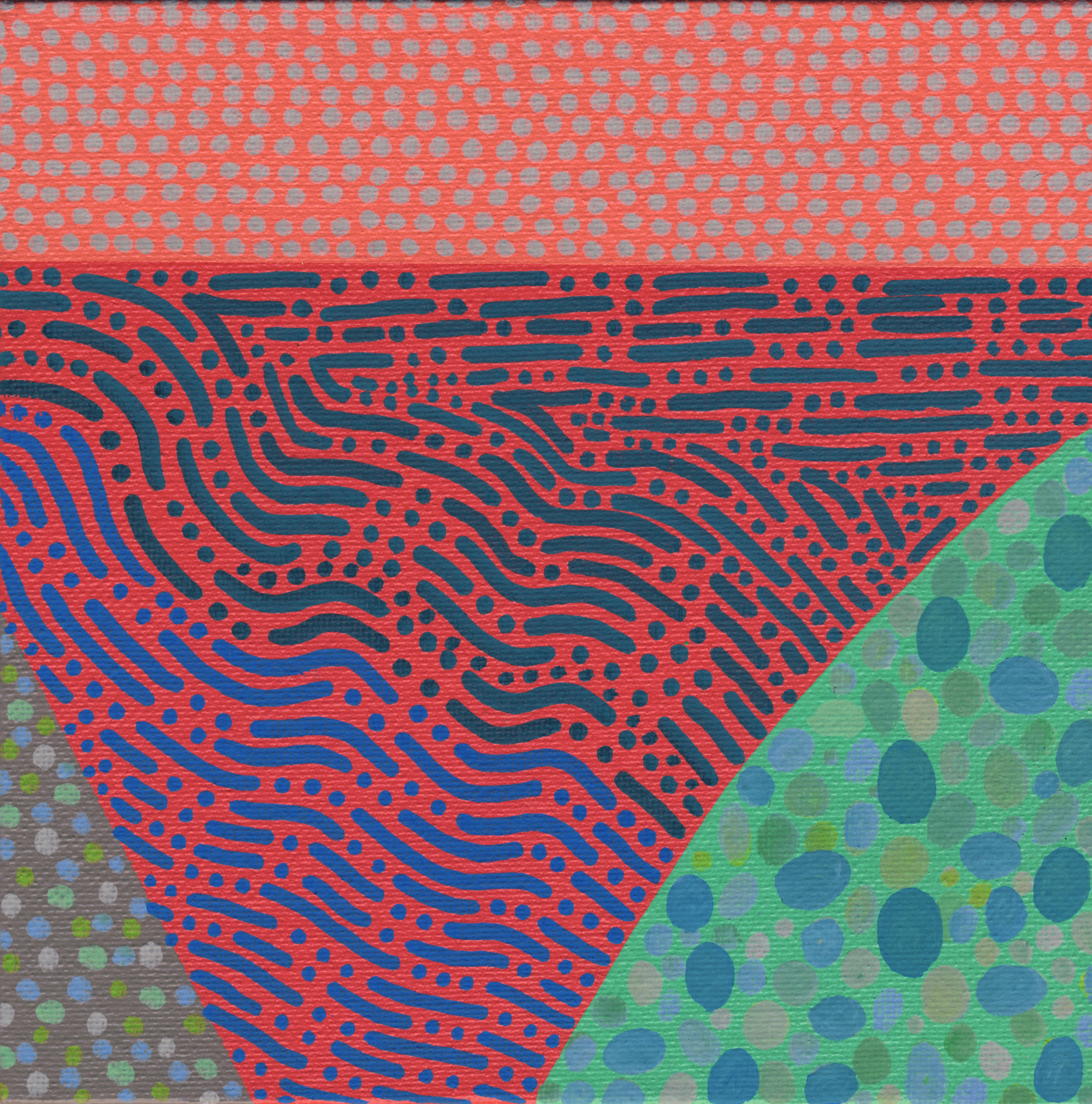 "84/100, Acrylic on canvas panel, 6"" X 6"", 3/31/19"