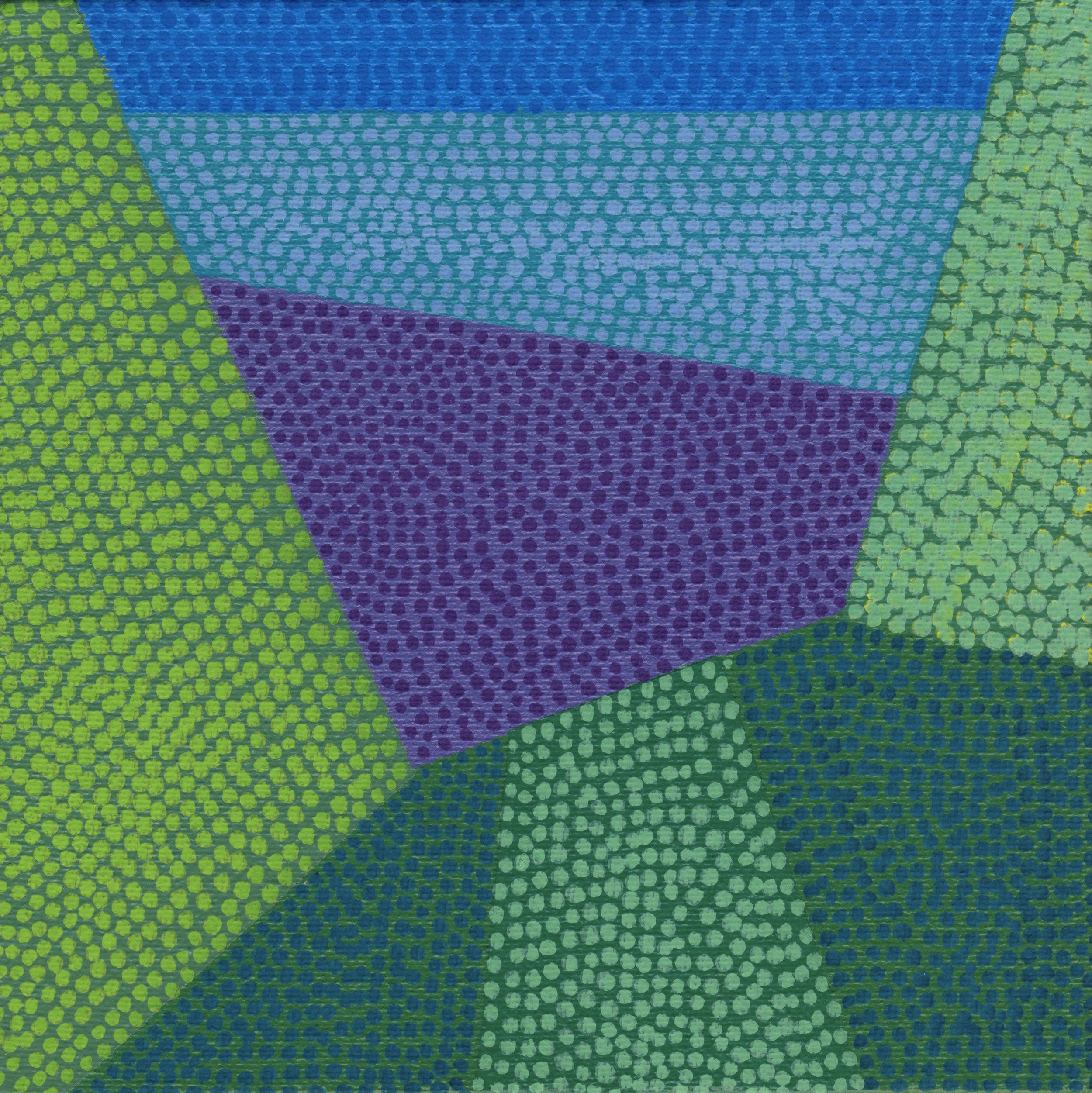 "89/100, Acrylic on canvas panel, 6"" X 6"", 4/5/19"