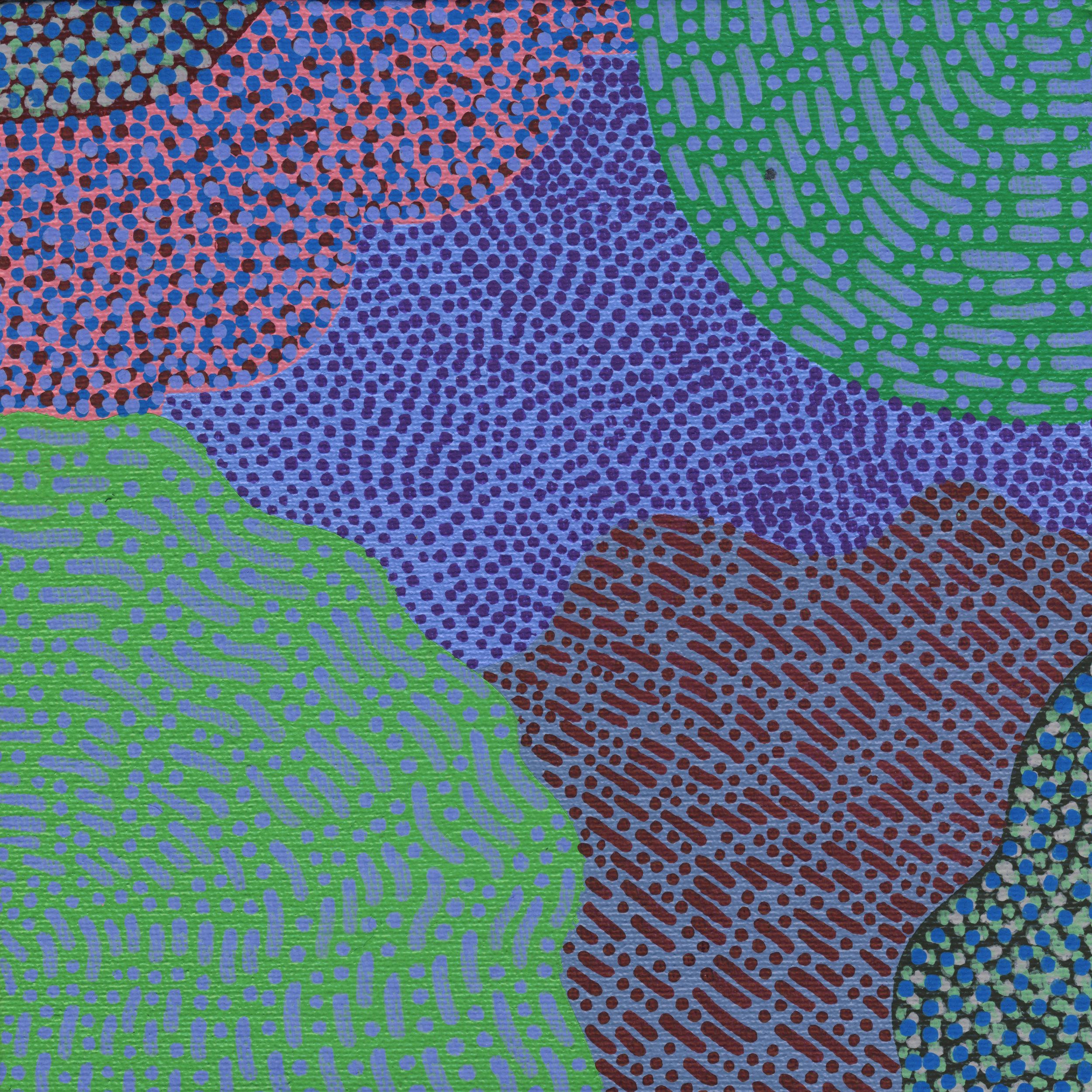 "99/100, Acrylic on canvas panel, 6"" X 6"", 4/15/19"