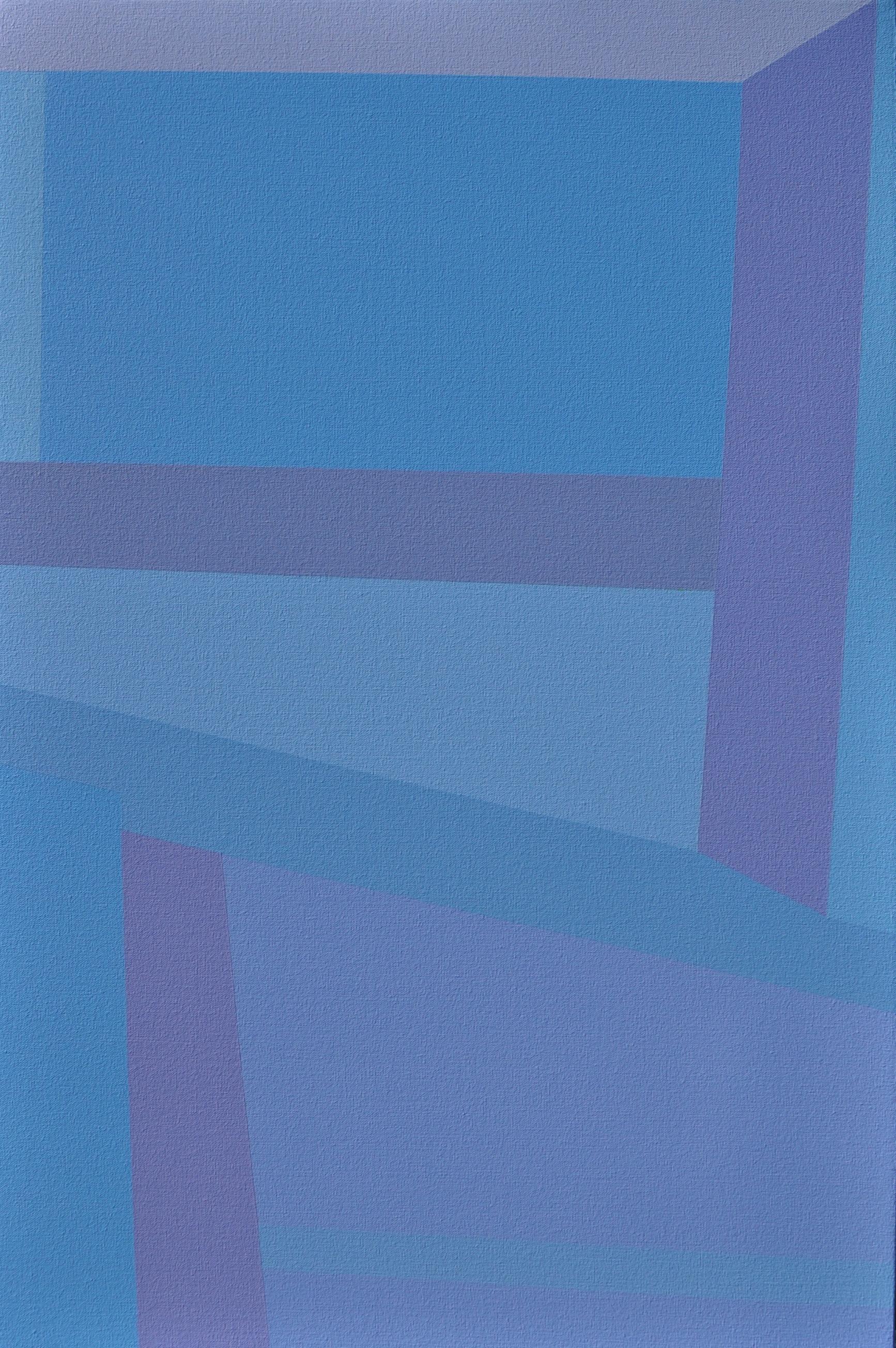 "Lavender Window, 2018, 30"" X 20"", Acrylic on canvas"
