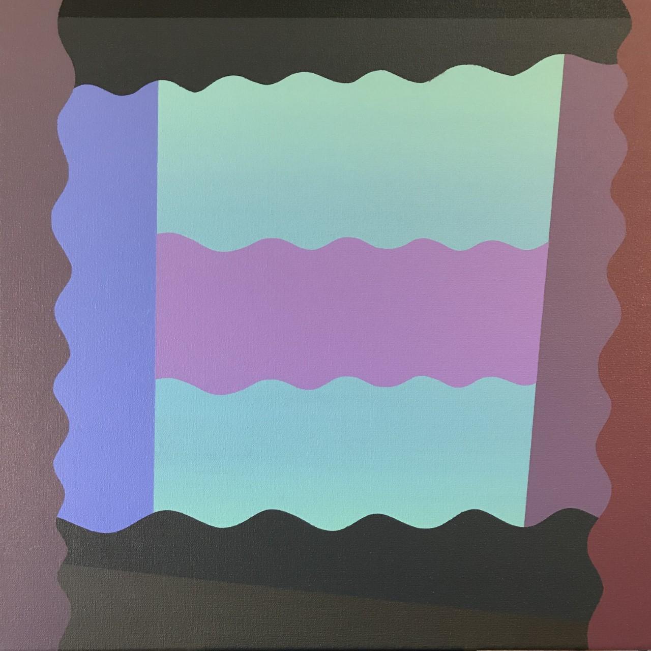 """Curtains, 2019, Acrylic on canvas, 20"""" X 20"""""""