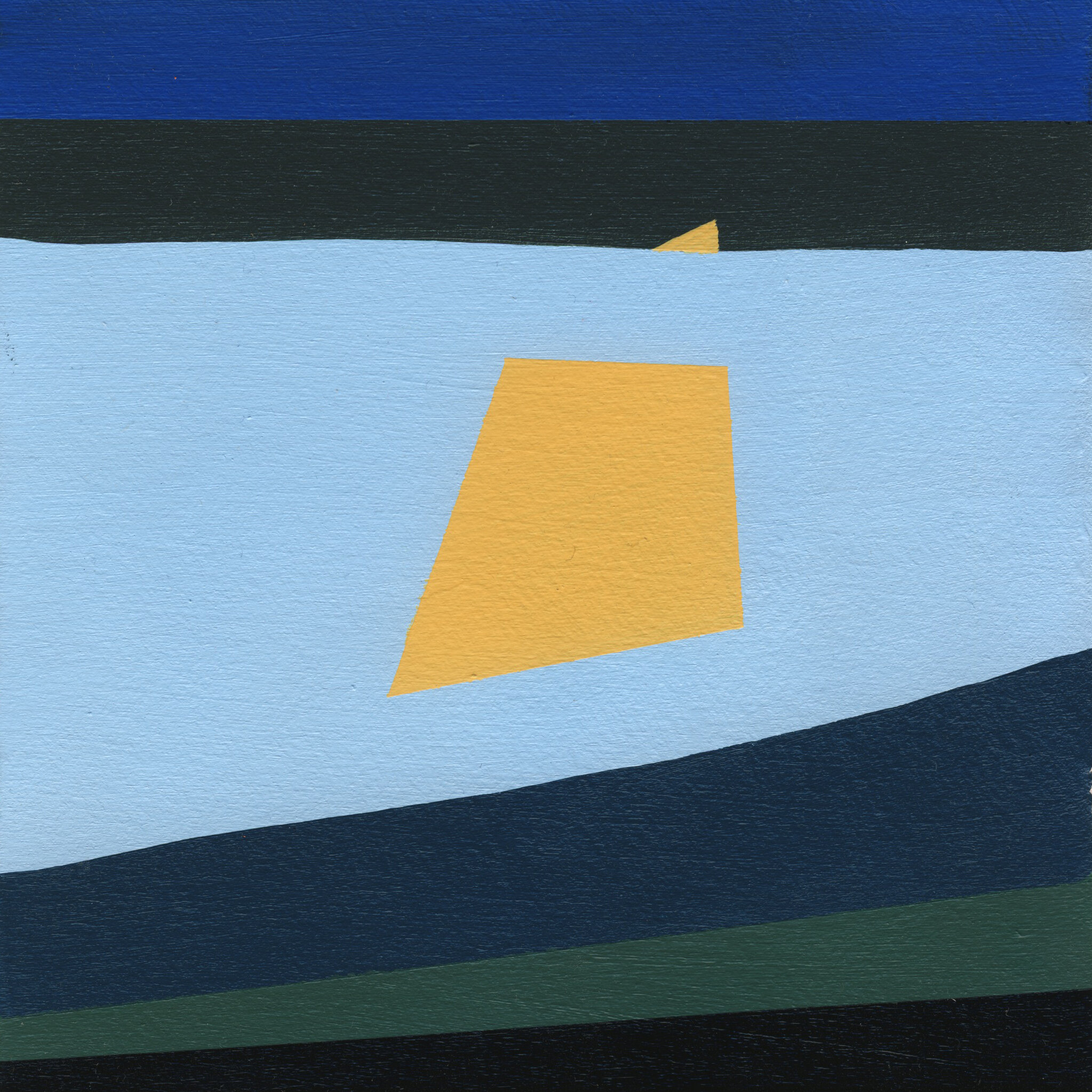 """Morning #2, 2015, 7"""" X 7"""", Acrylic on paper"""