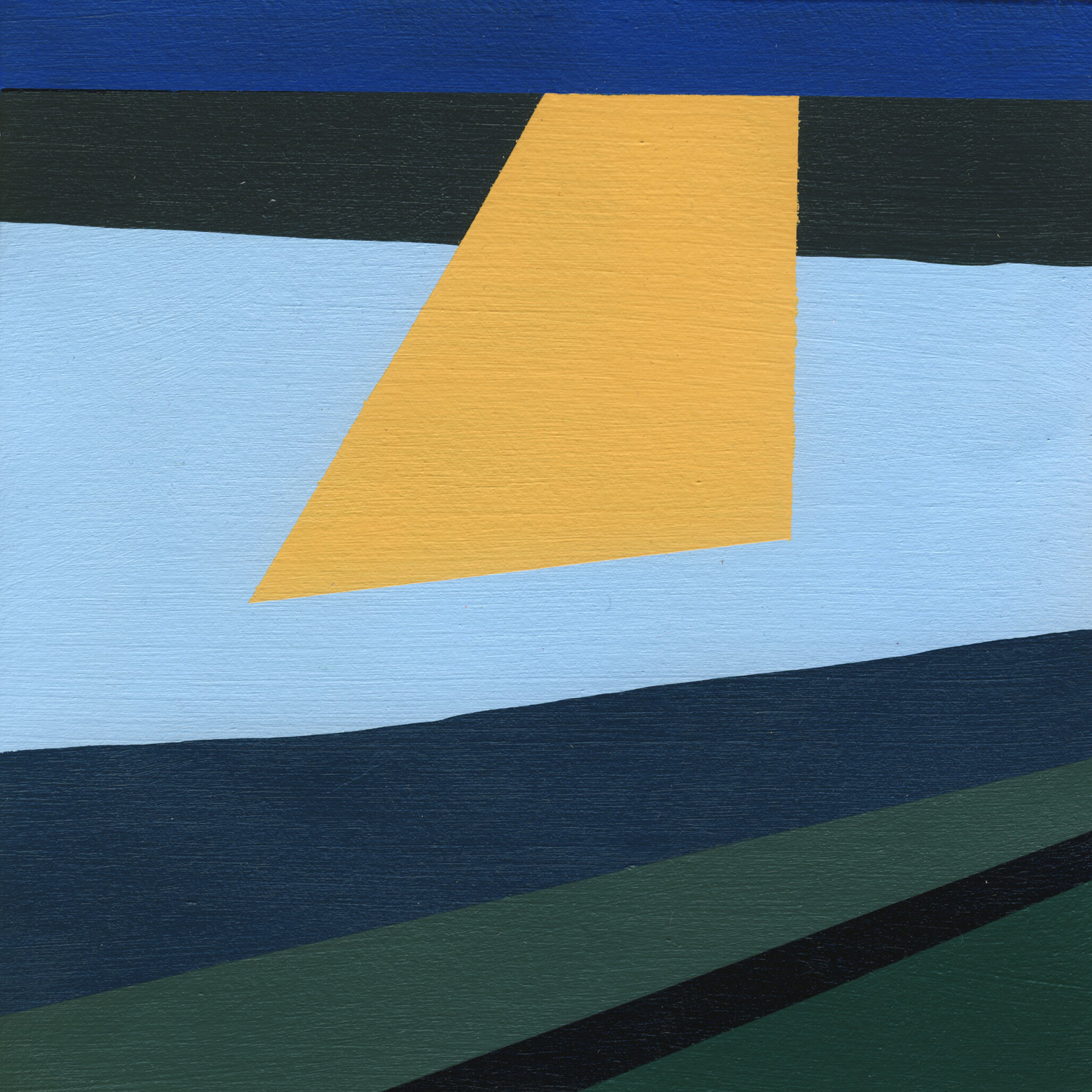 """Morning #1, 2015, 7"""" X 7"""", Acrylic on paper"""