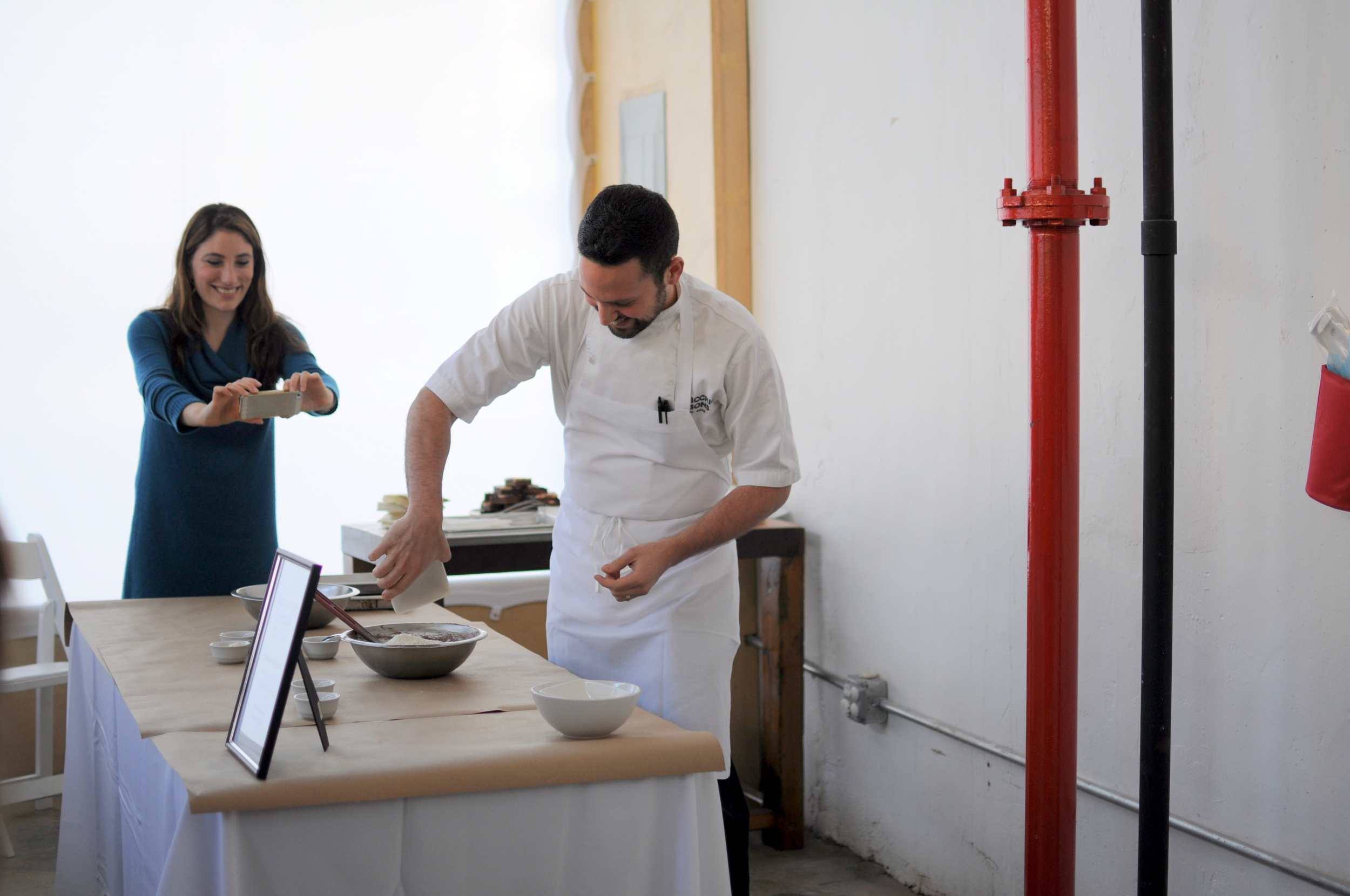 Stephen Colluci ,pastry chef extraordinaire, in action
