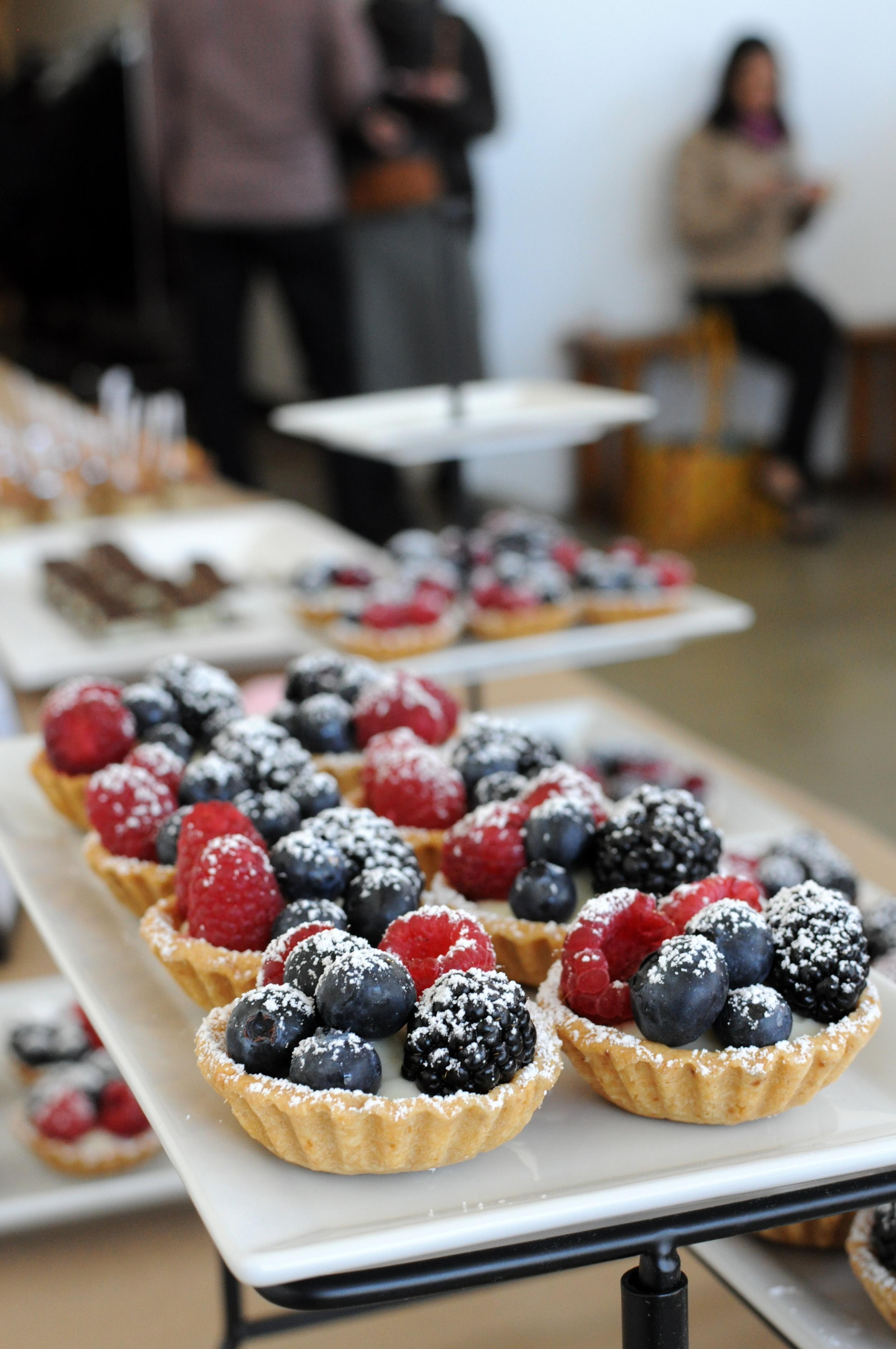 Fruit tarts with lavender lemon cream by  Louise