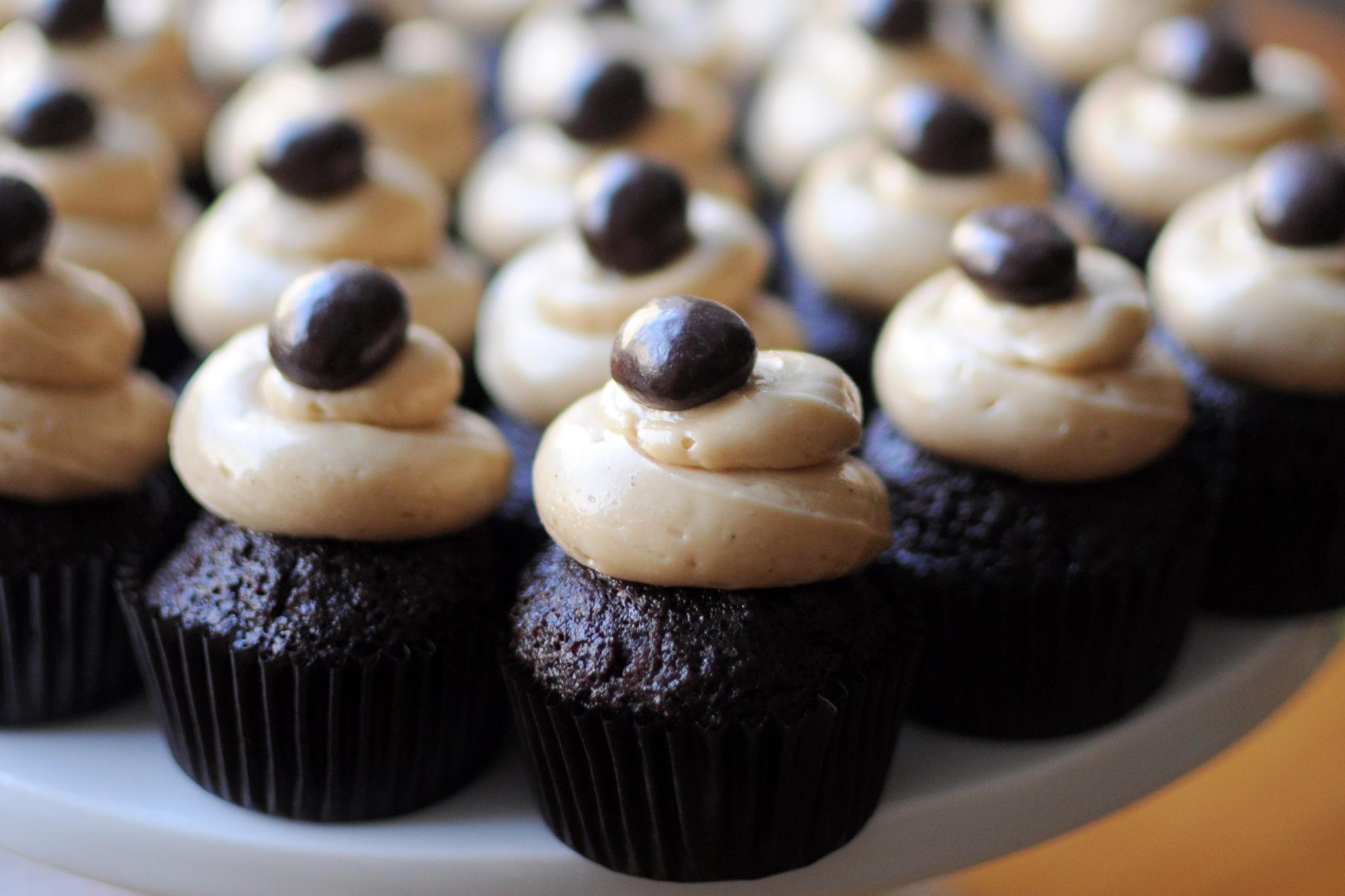 Hazel's  smoked Sumatra coffee cupcakes