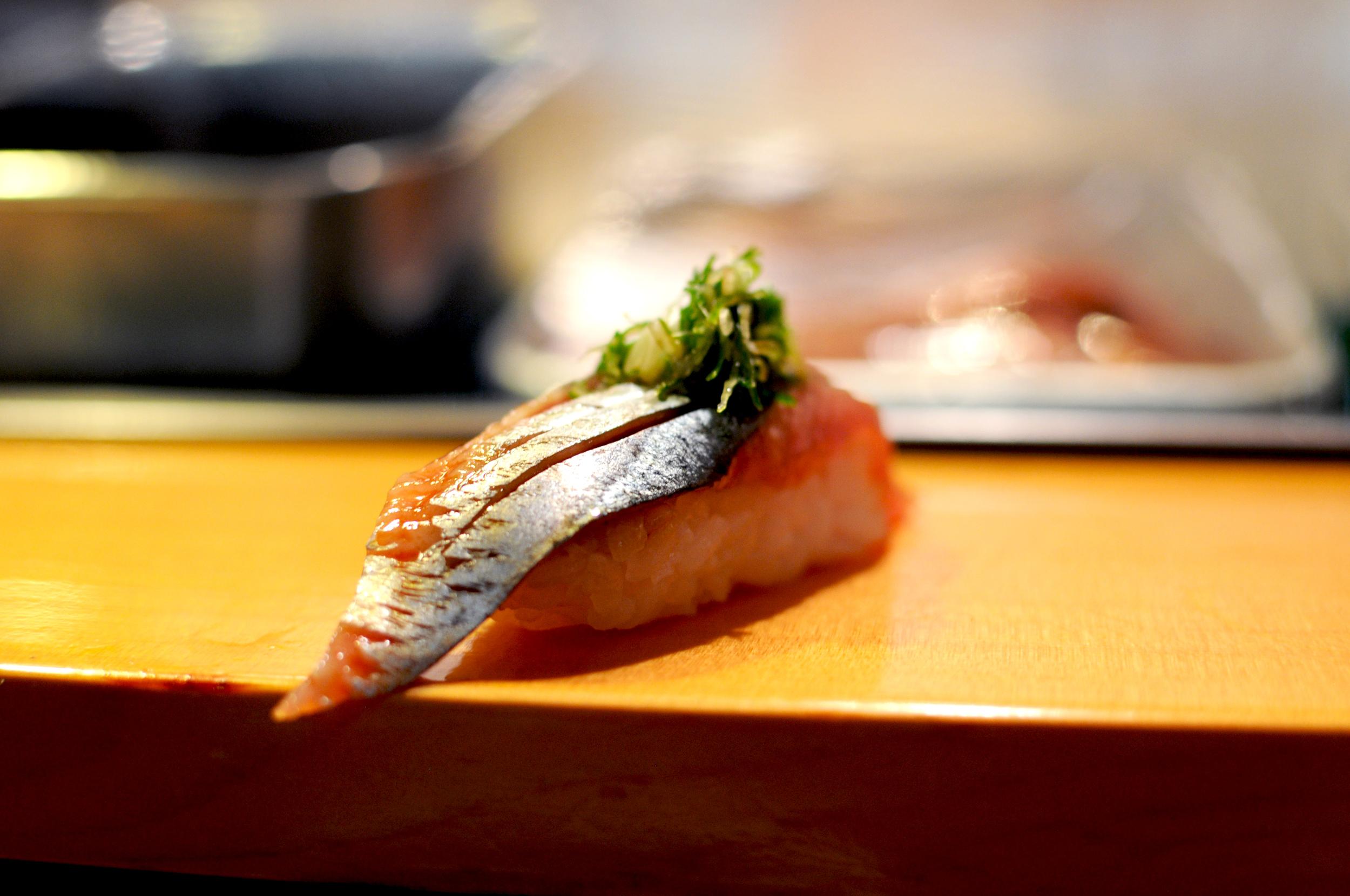 Saury at Sushi Dai