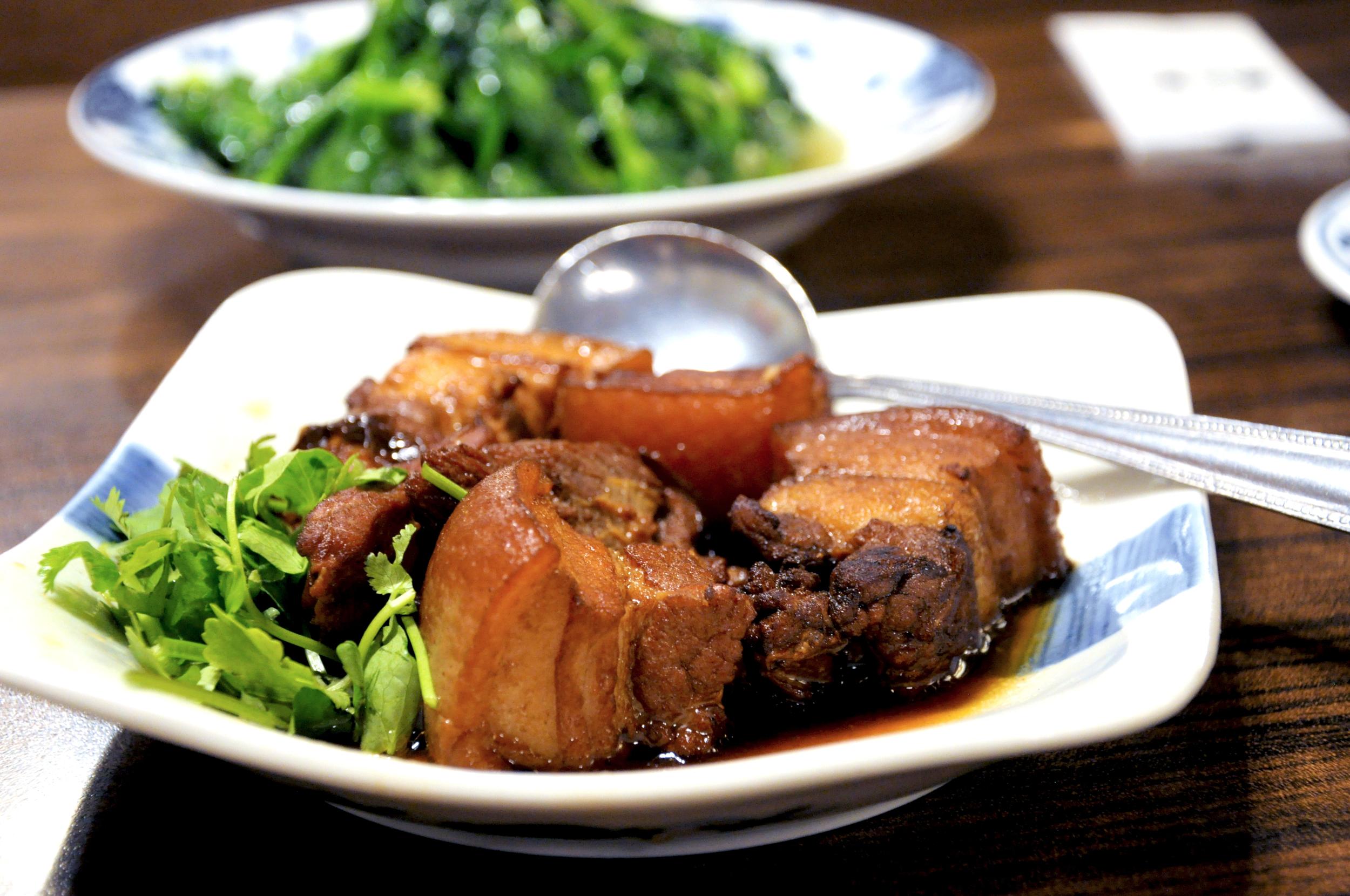 Braised pork at AoBa