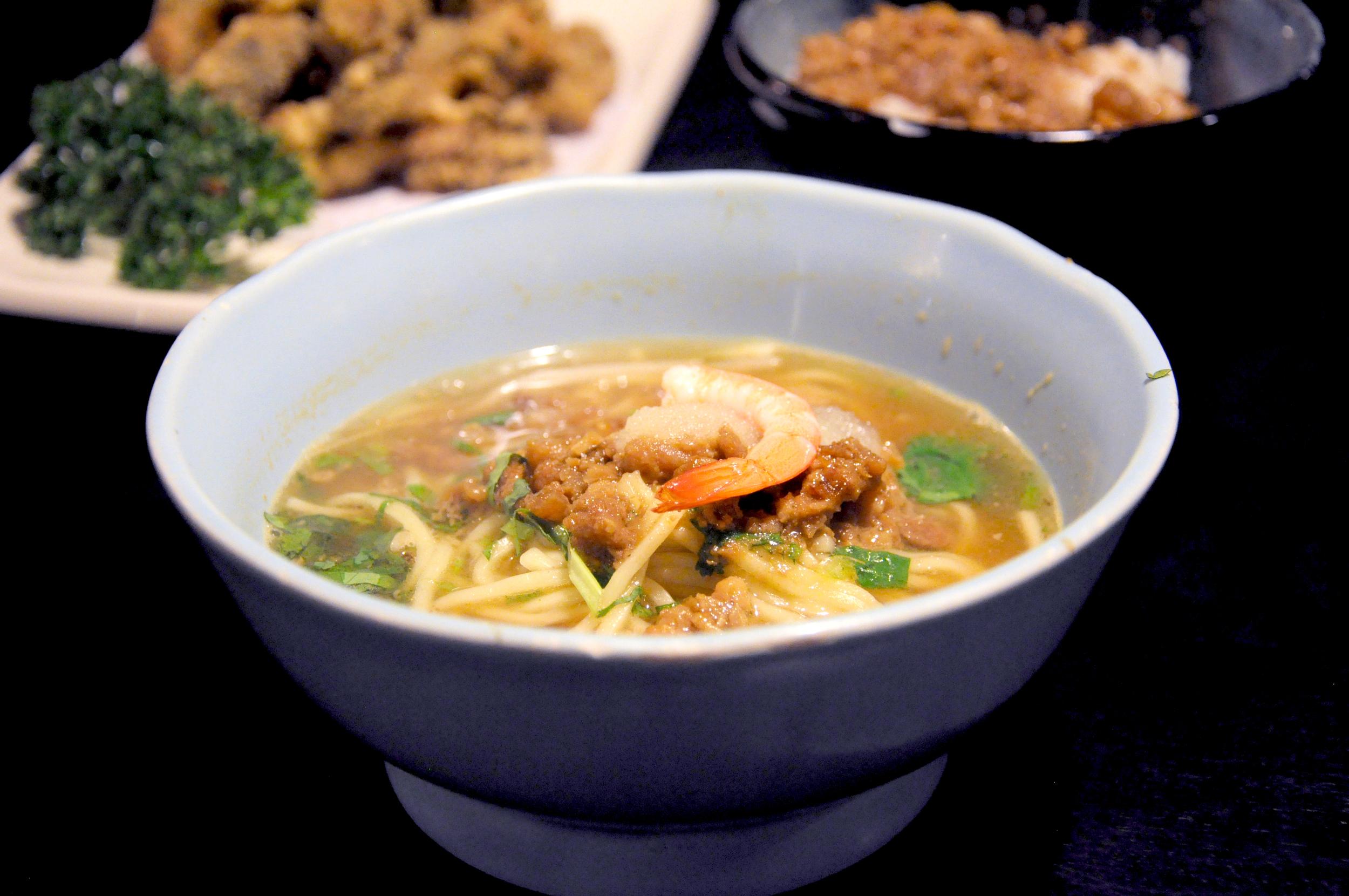 Dan zai noodles at Du Hsiao Yueh