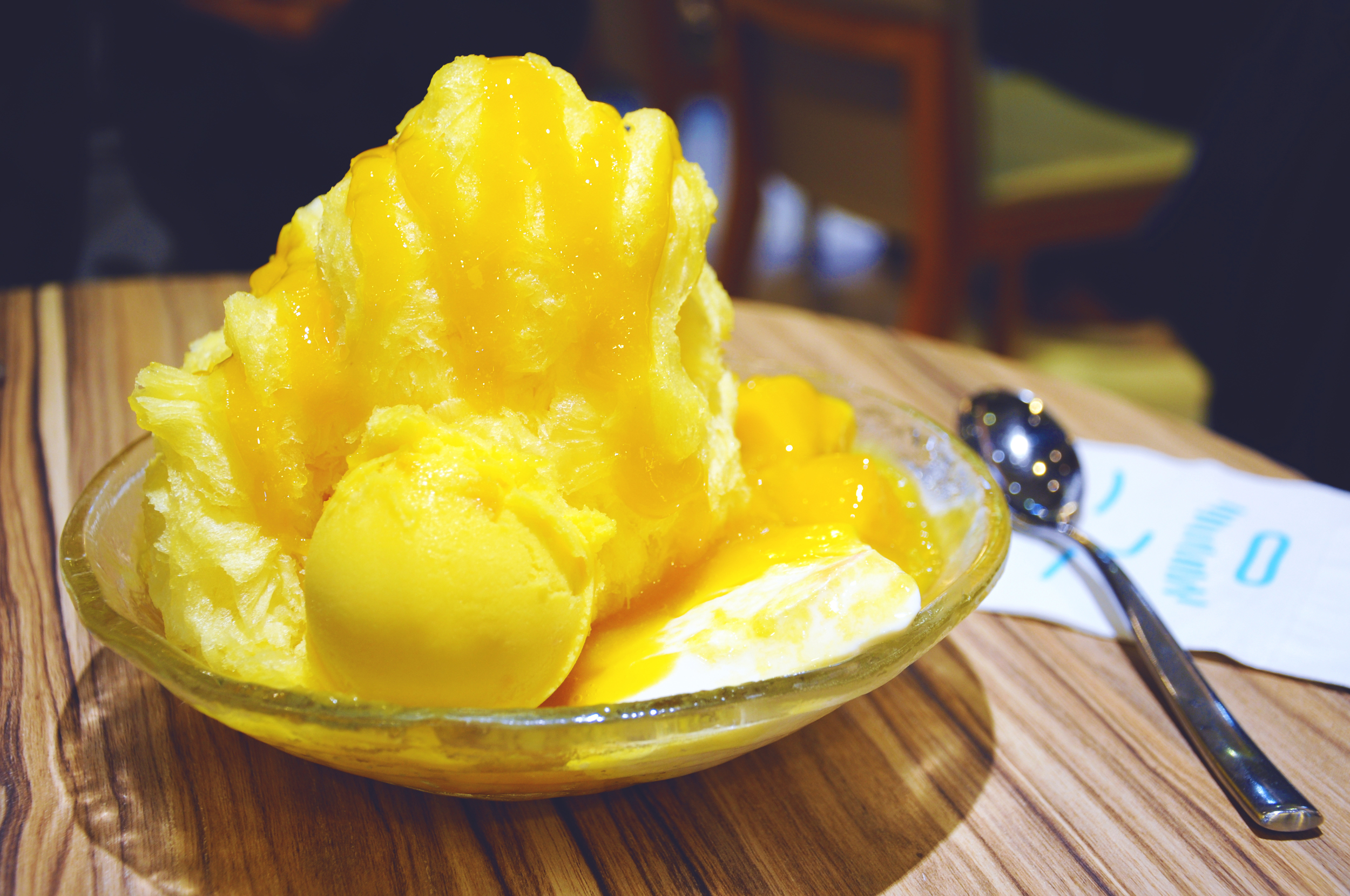 Mango shave ice at Ice Monster