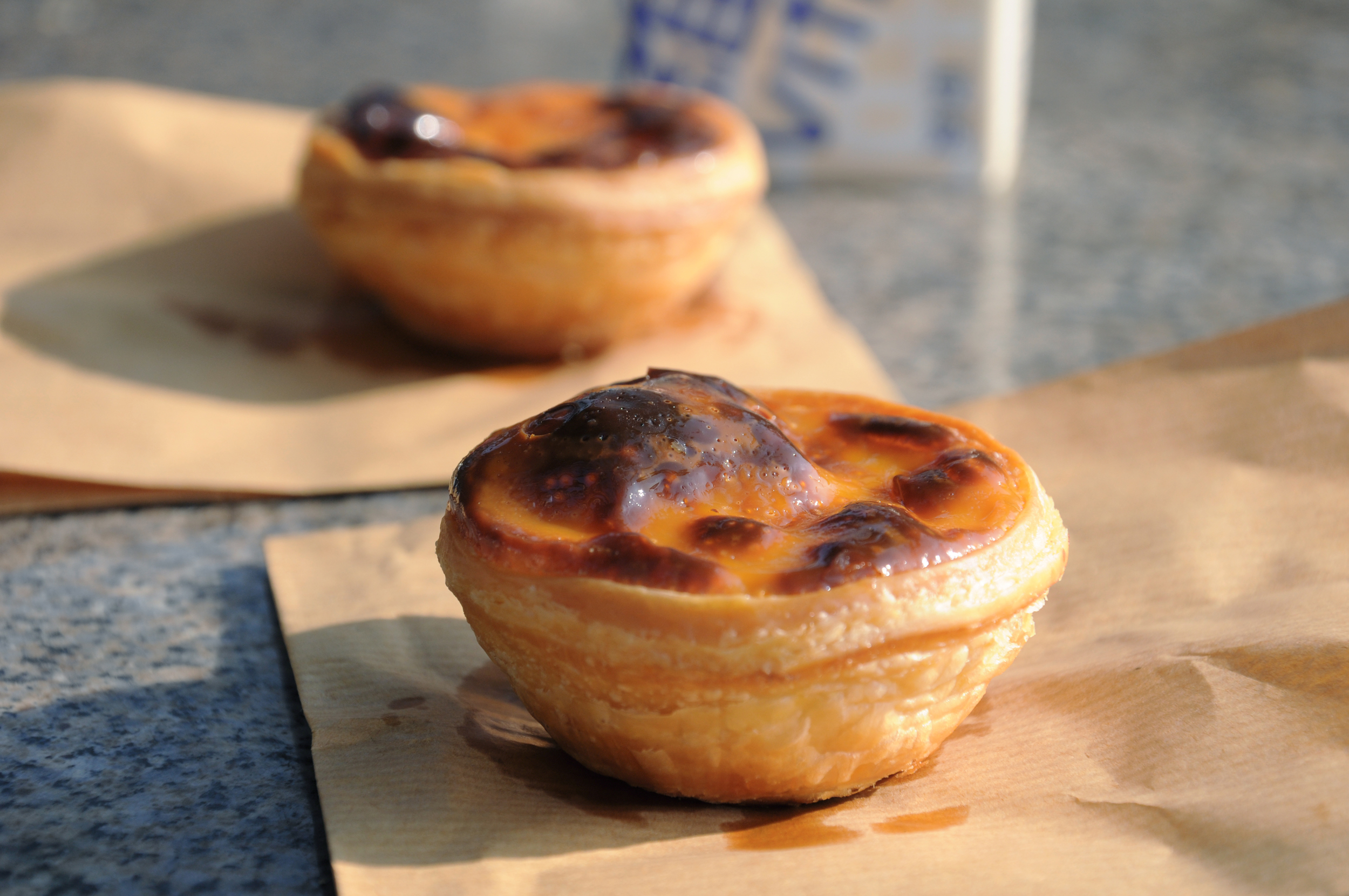 Portuguese egg tarts at Lord Stow's Bakery