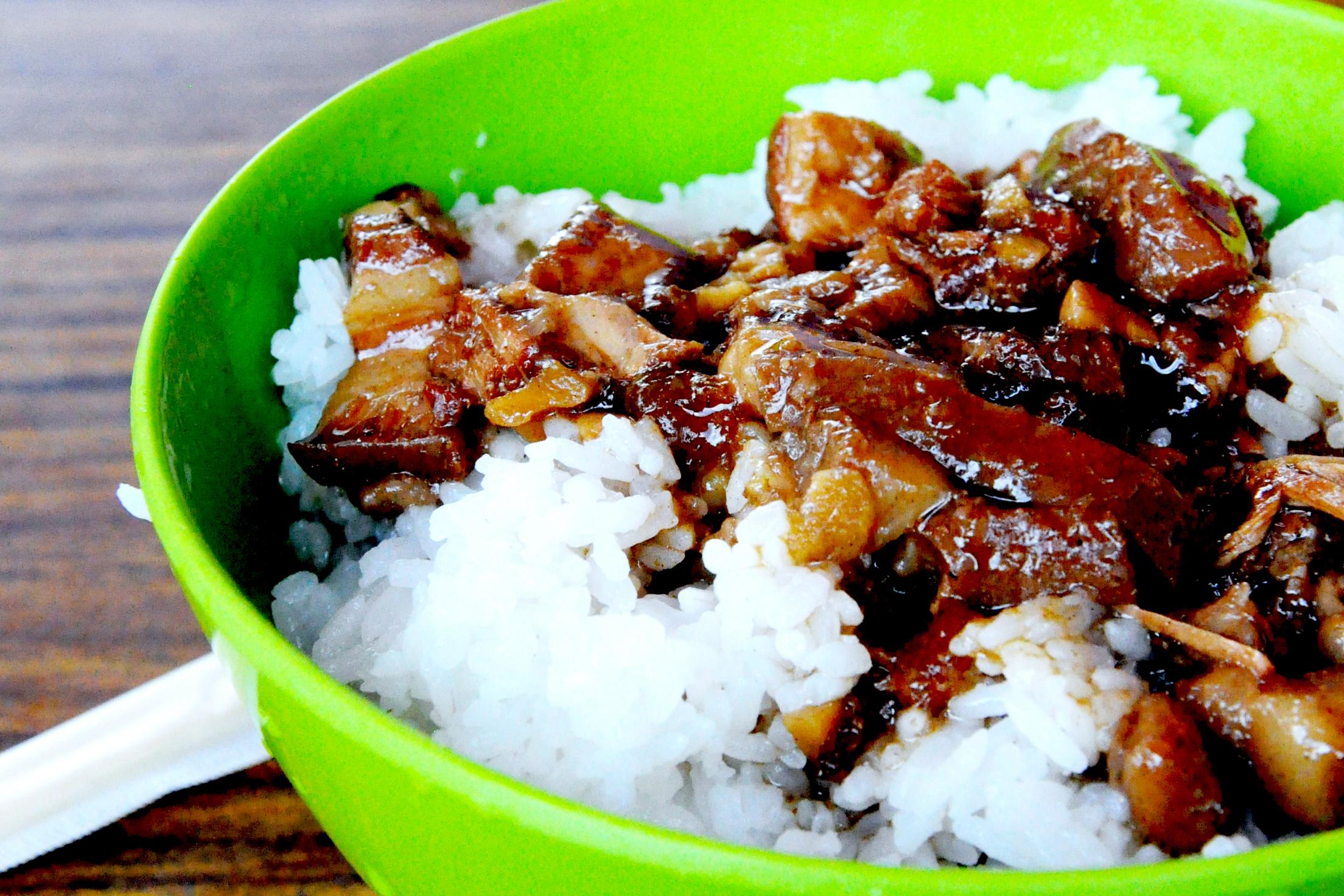 Lu rou fan  (braised pork on rice) at Shifen