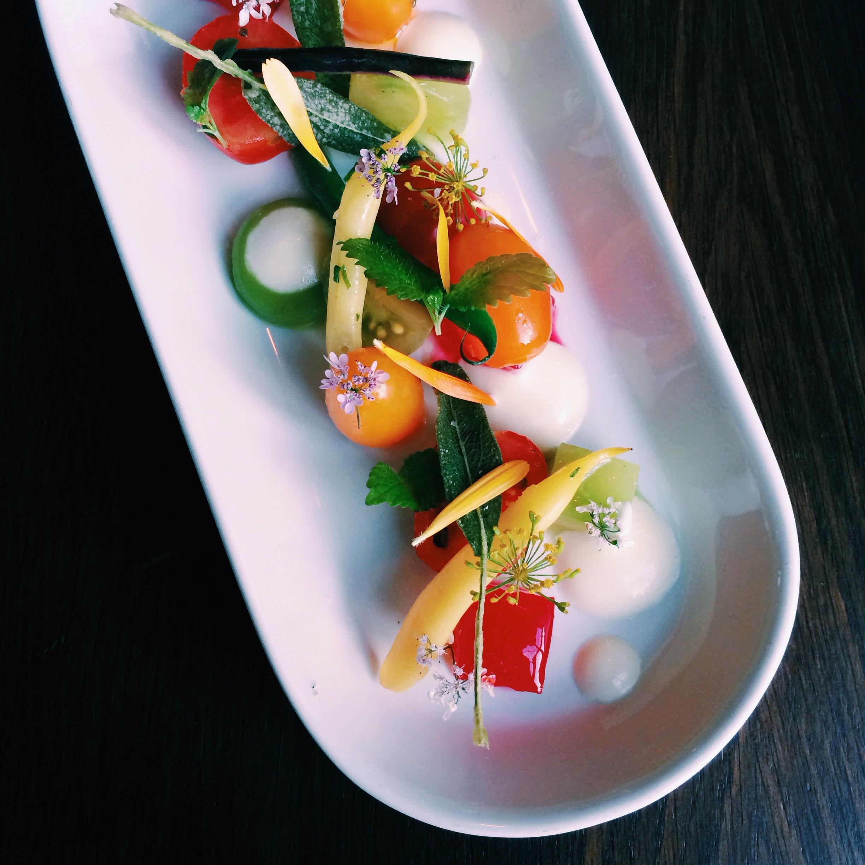 The most stunning tomato salad at  Lysverket