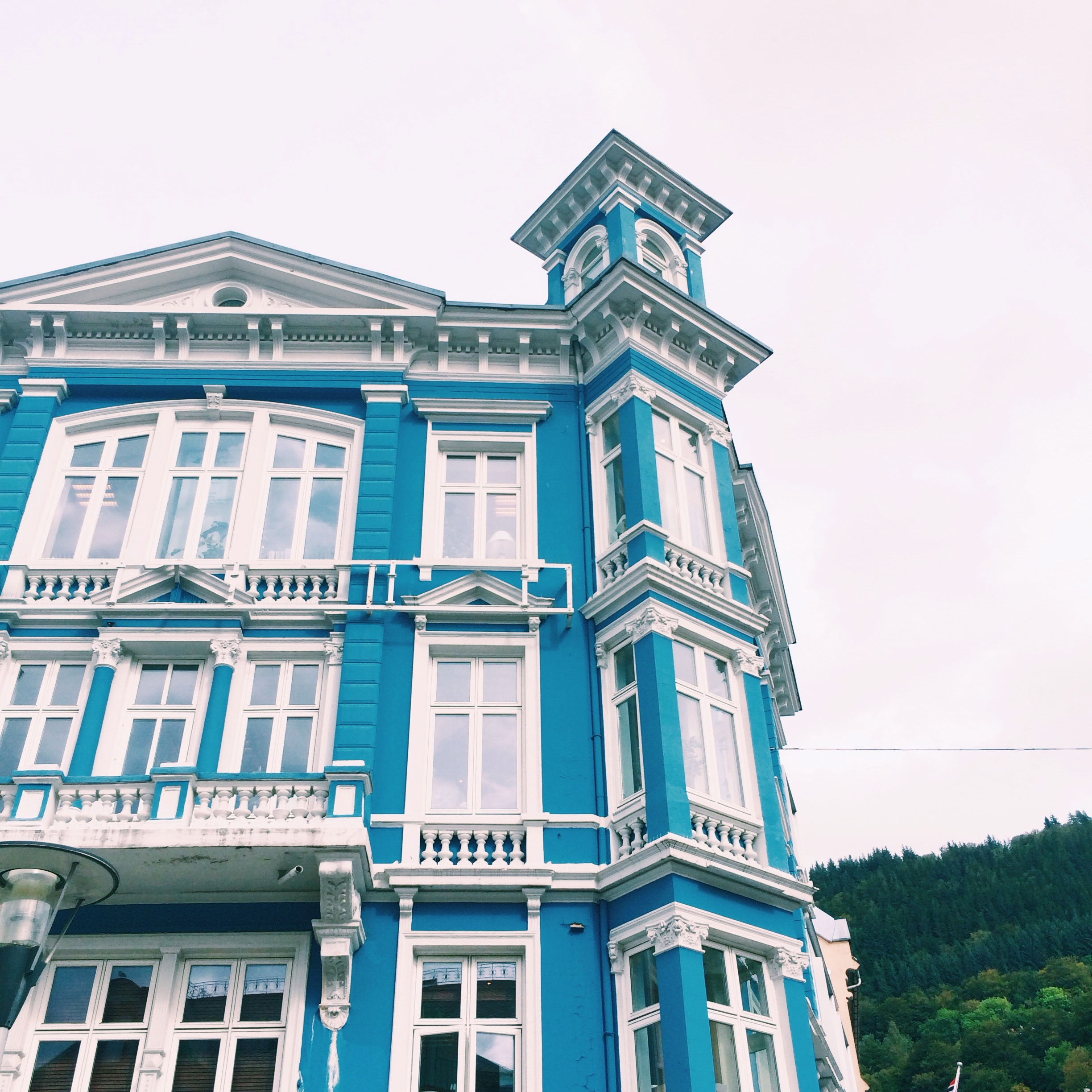 Lovely, colorful homes by the Bergen wharf