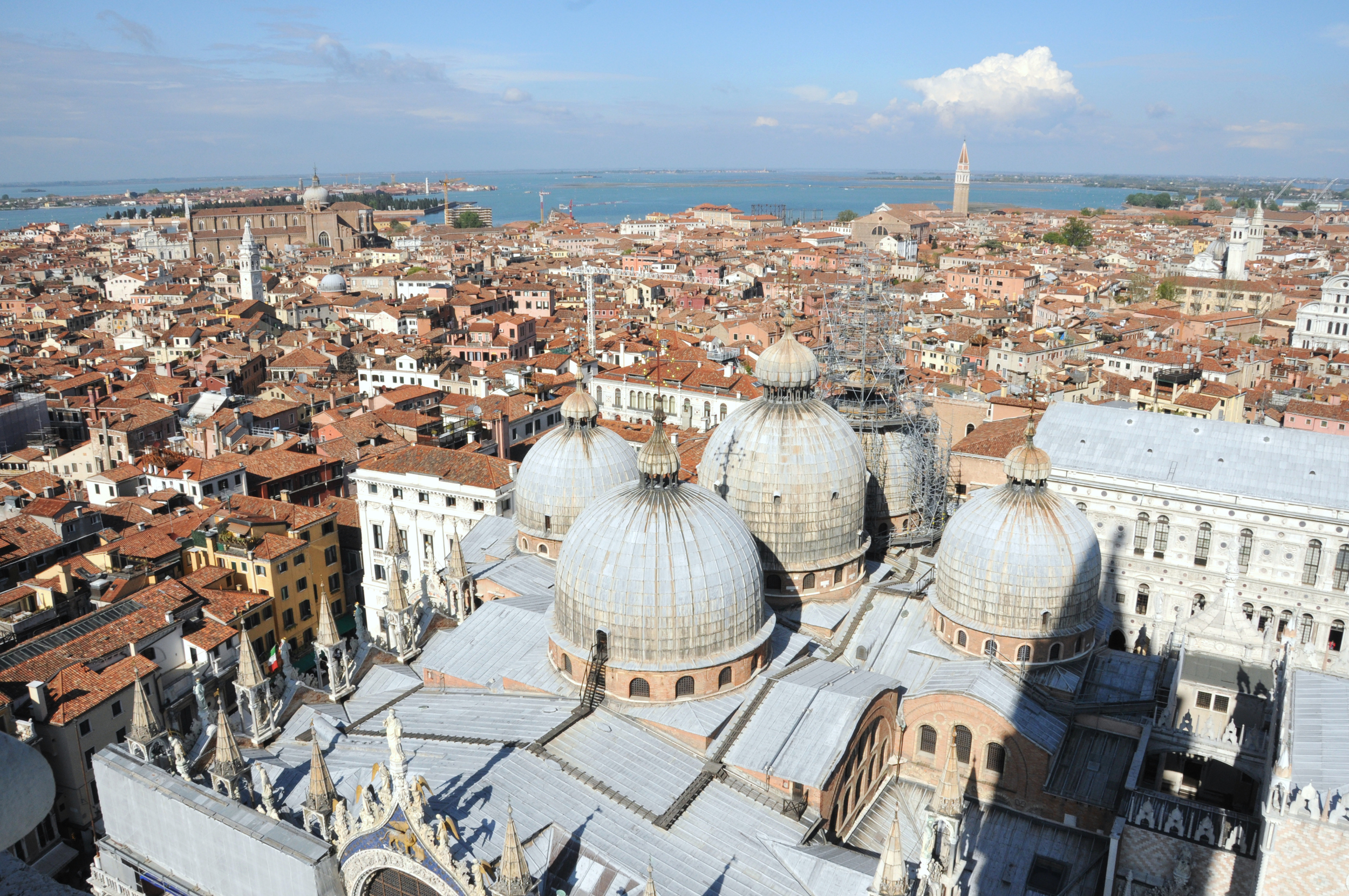 View of Venice from atop St Mark's Campanile (bell tower)