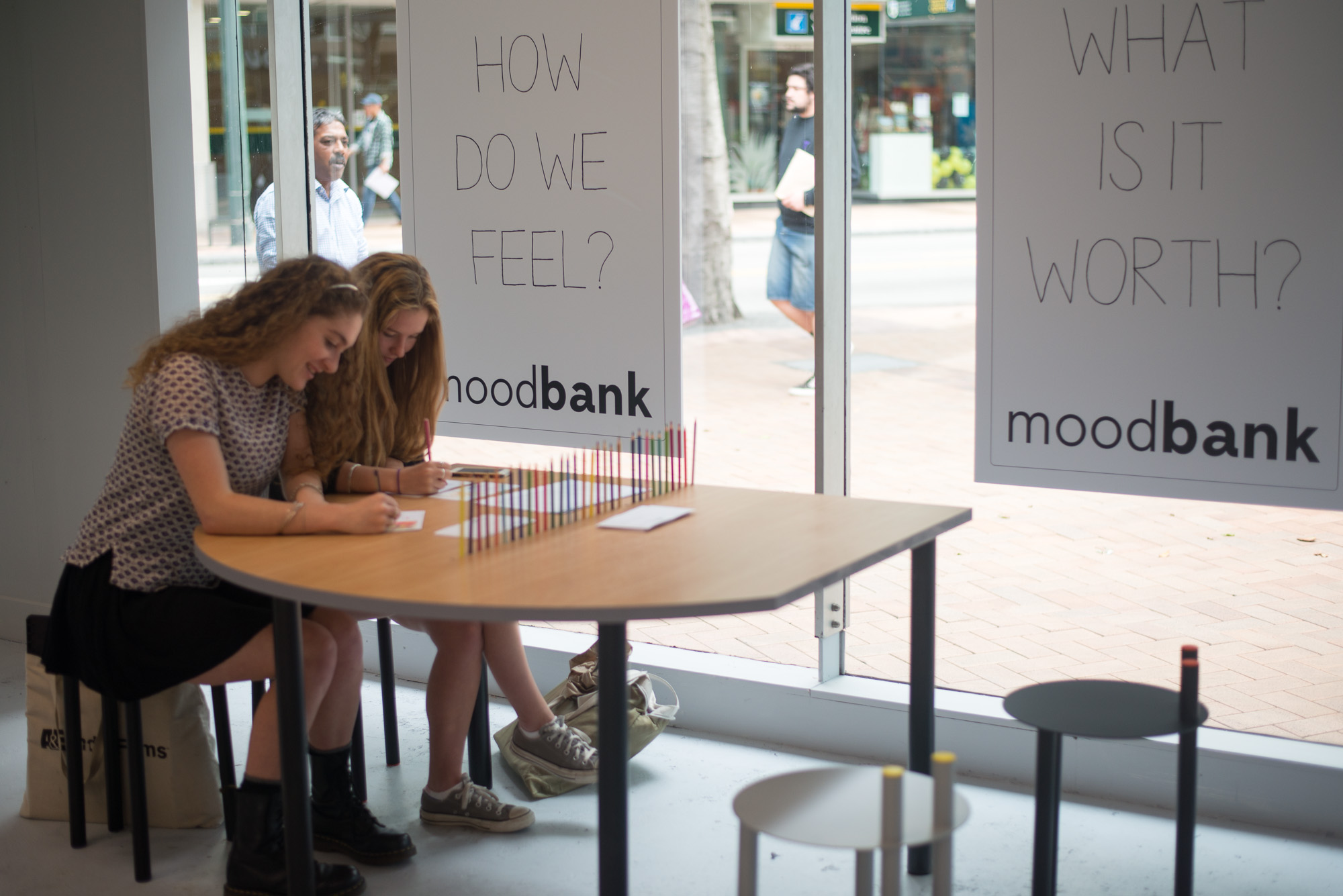 Moodbank , Victoria and Manners Streets, 2014