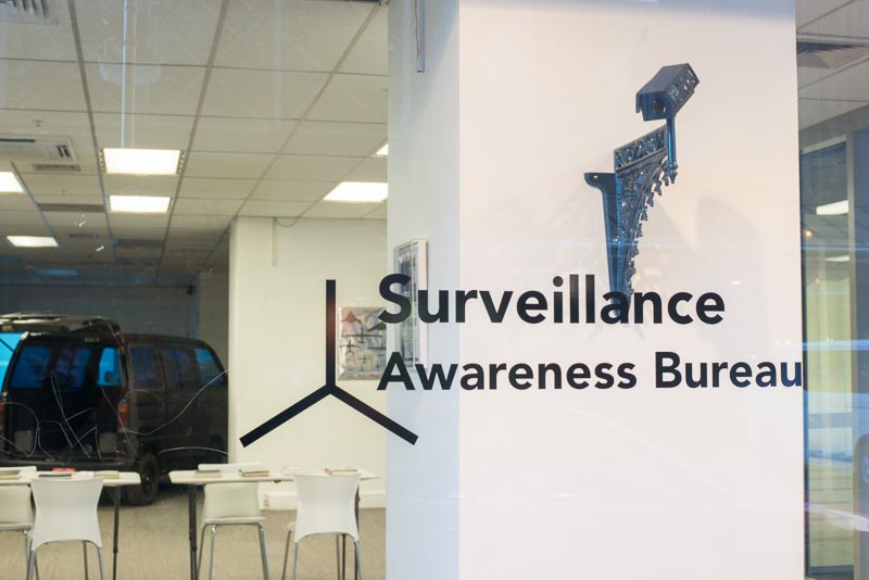 Surveillance Awareness Bureau, Modelab, 1 Grey Street, Wellington, 27 May - 13 June 2015.