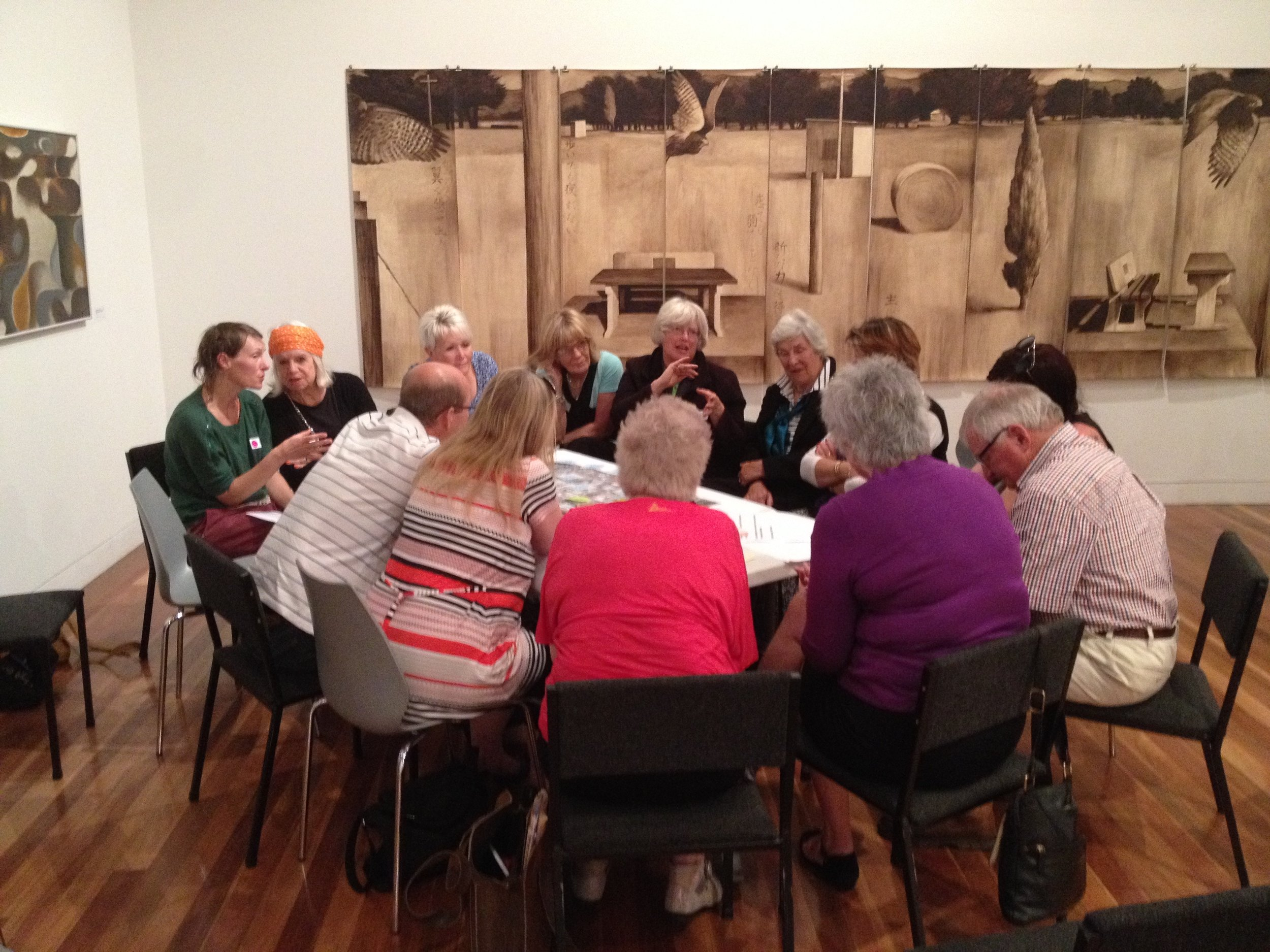 One of five workshop groups in our fourth Our Future Masterton workshop in 2016, Aratoi.