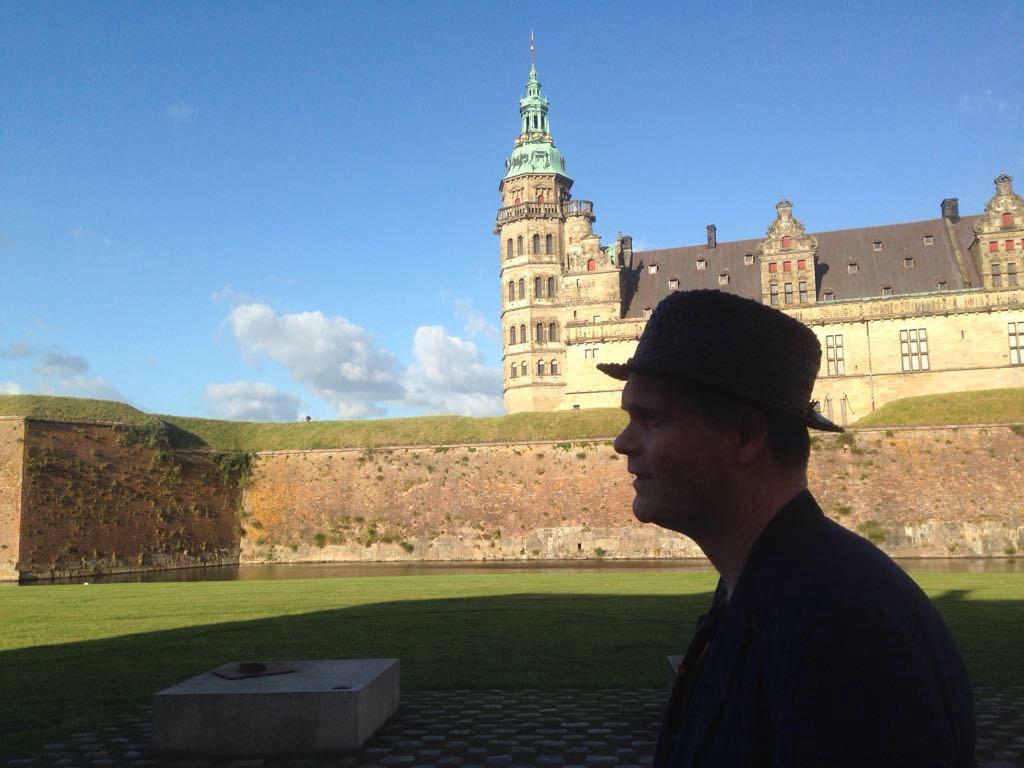 Julian Priest with Sophie Jerram in Helsingor, Denmark